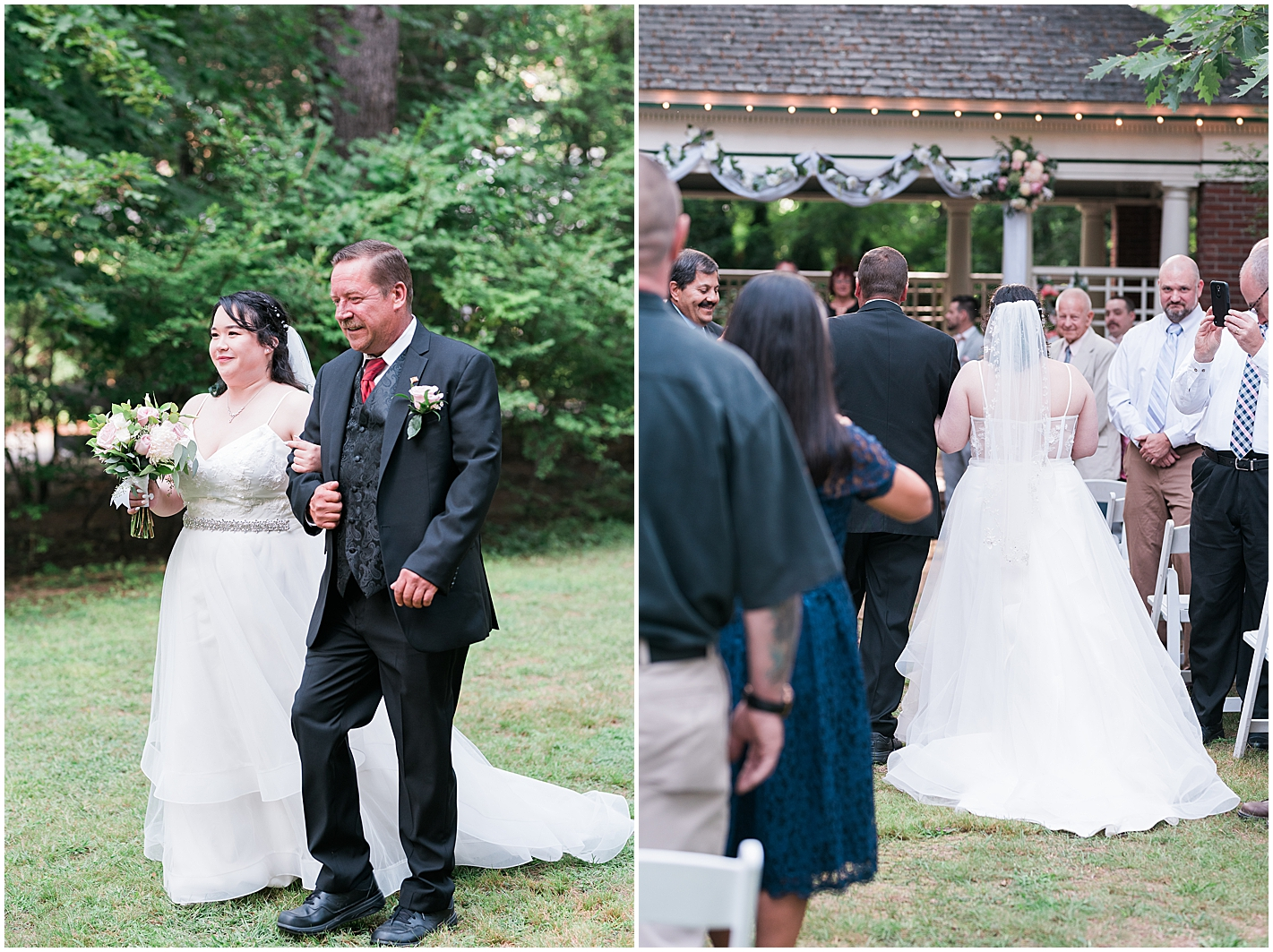 Outdoor Ceremony at Governors Inn Rochester New Hampshire Photo by Alyssa Parker Photography