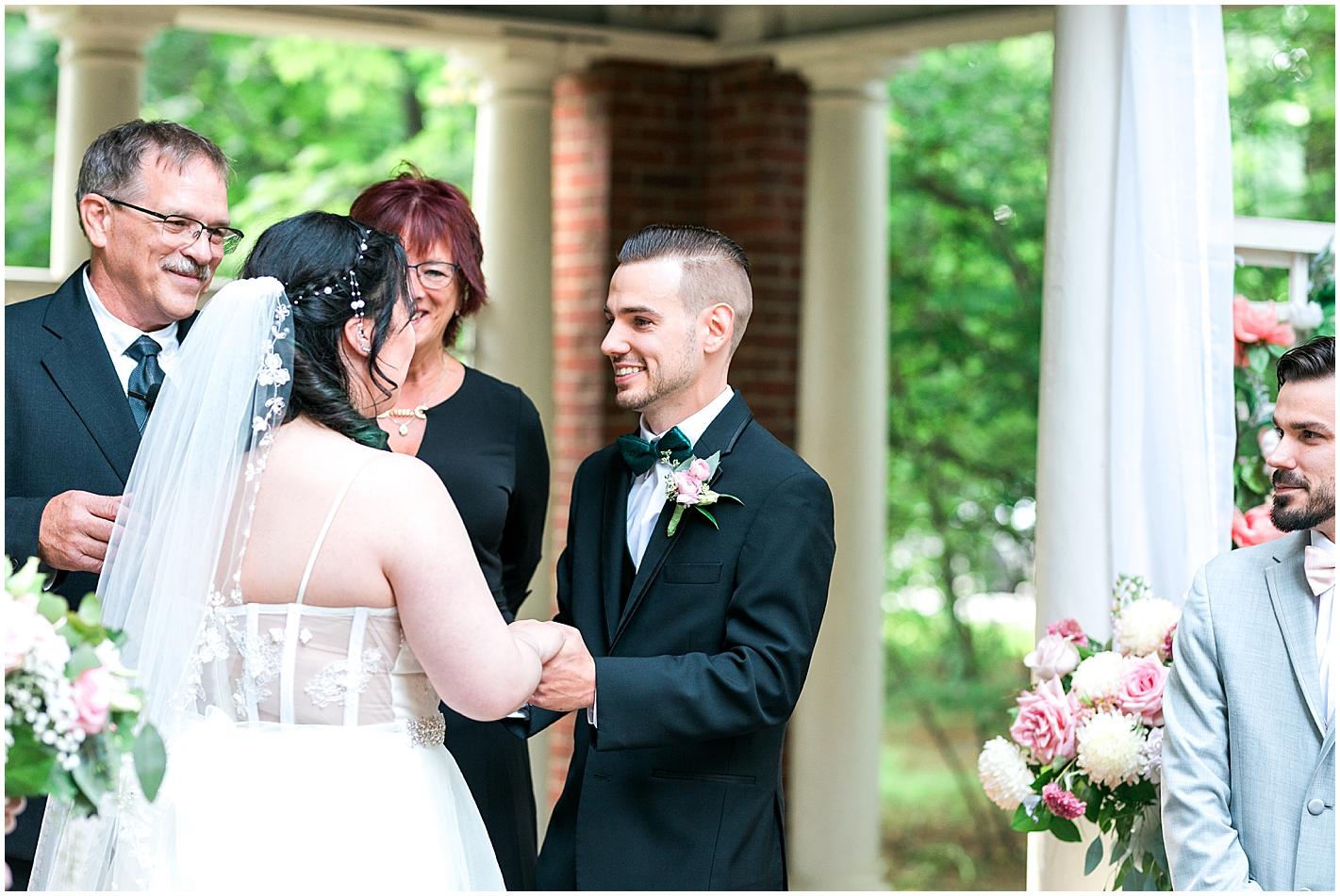 Groom Happy to See his Bride photo by Alyssa Parker Photography