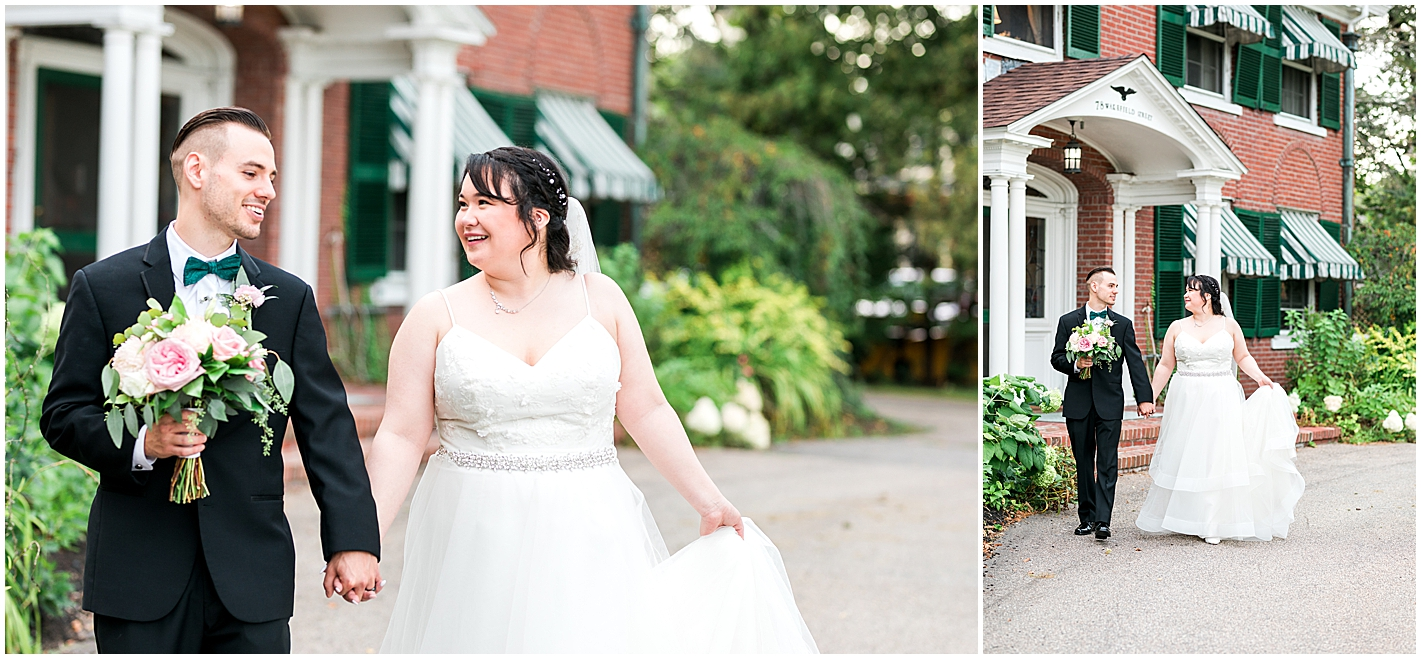 Bride and Groom Formals at Governors Inn Rochester NH Photos by Alyssa Parker Photography