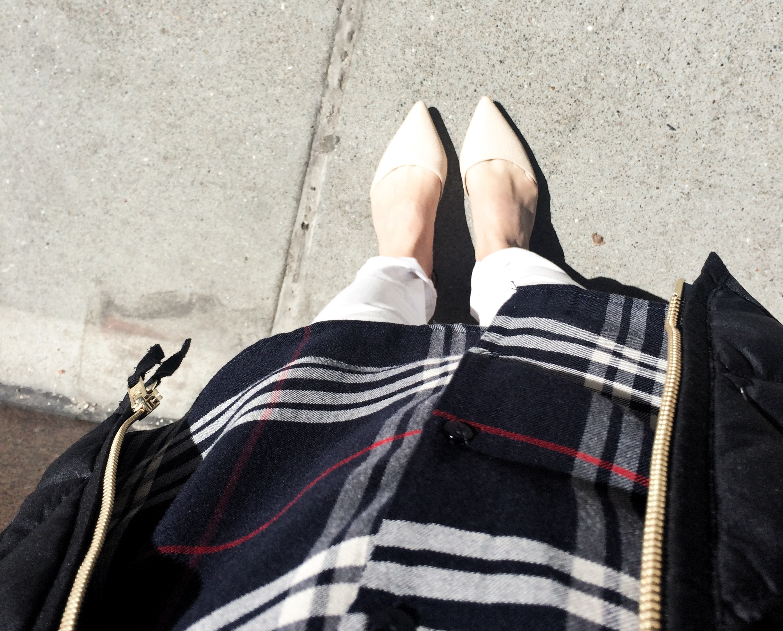 Rocking some #basic pieces for a Monday morning at work. Zara shirt, Gap pants, Target flats, JCrew puffer vest. #NoShame