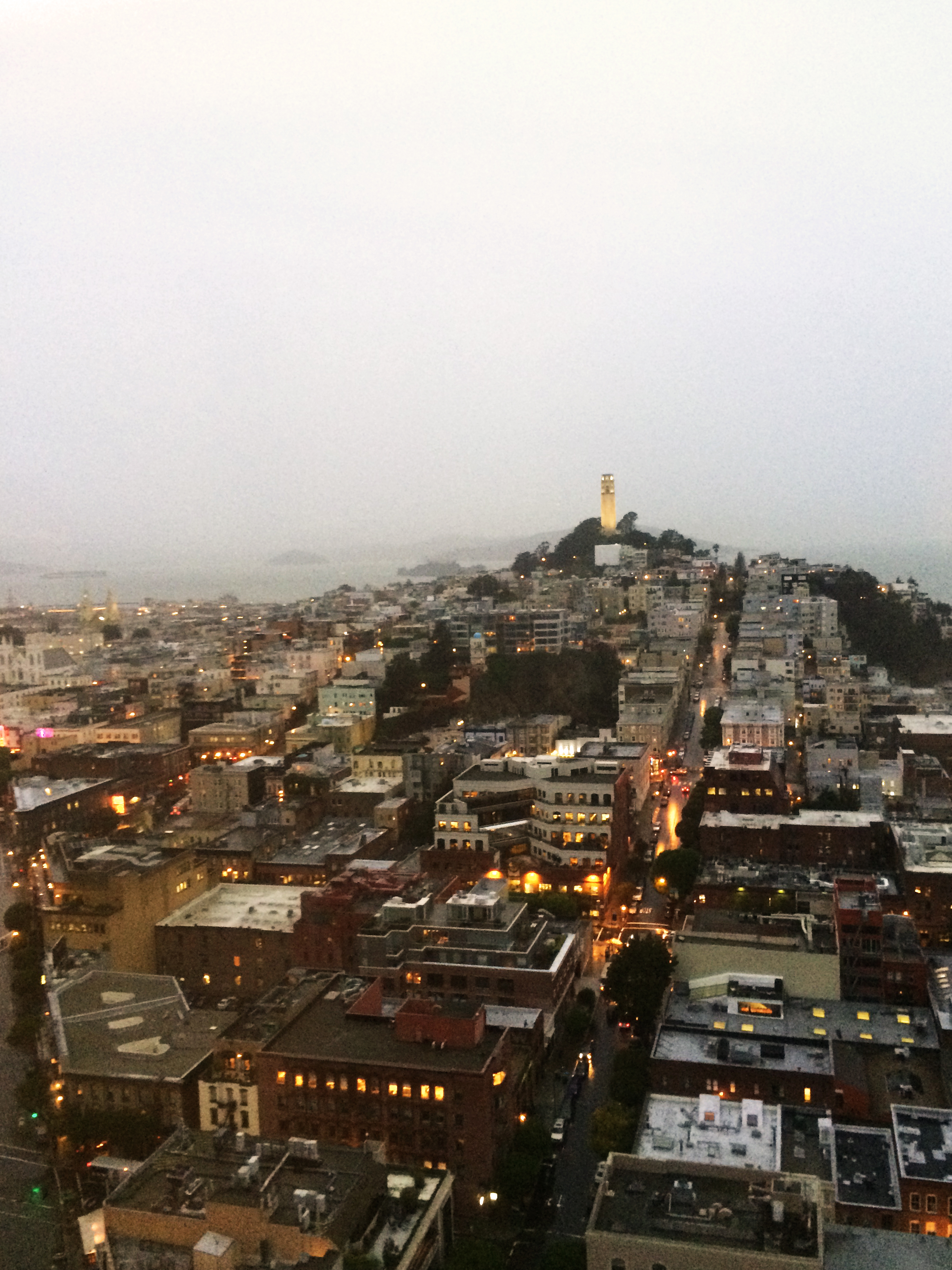 View from the 24th floor of the Transamerica Pyramid