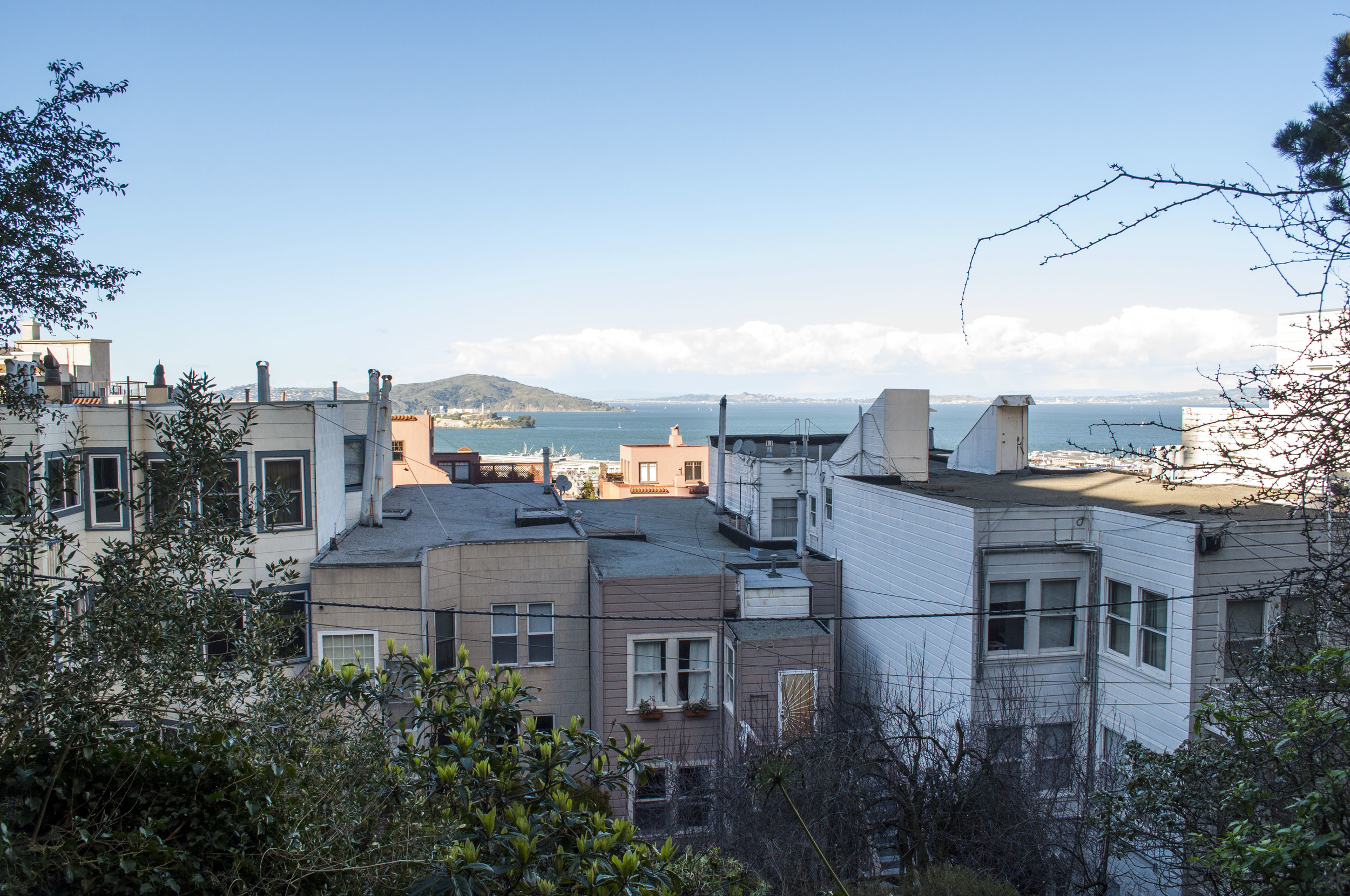Alcatraz from 28 Barbary Lane