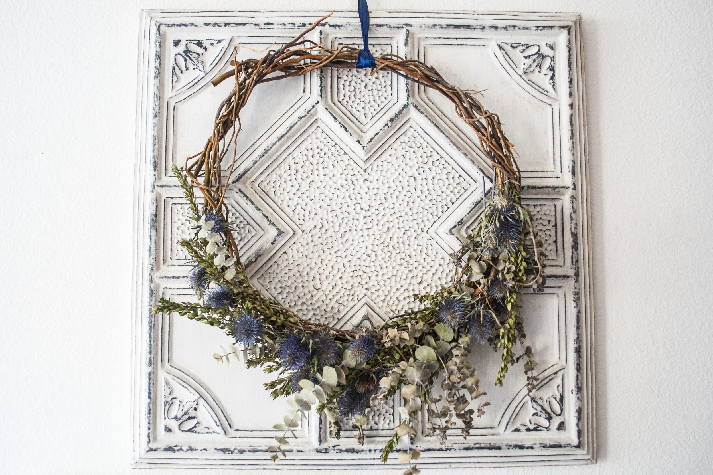 boho wreath detail