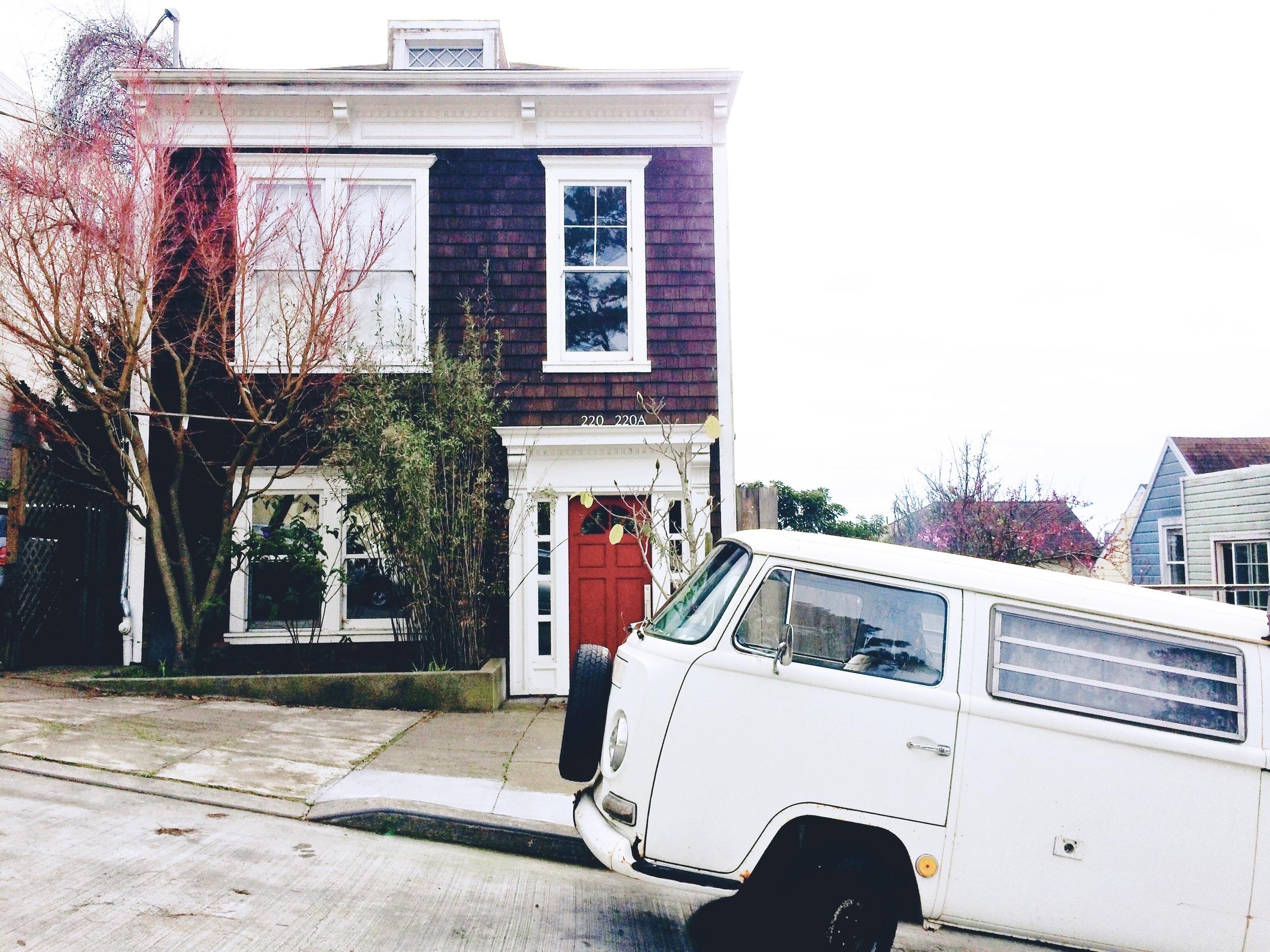 little cute house little hippy bus