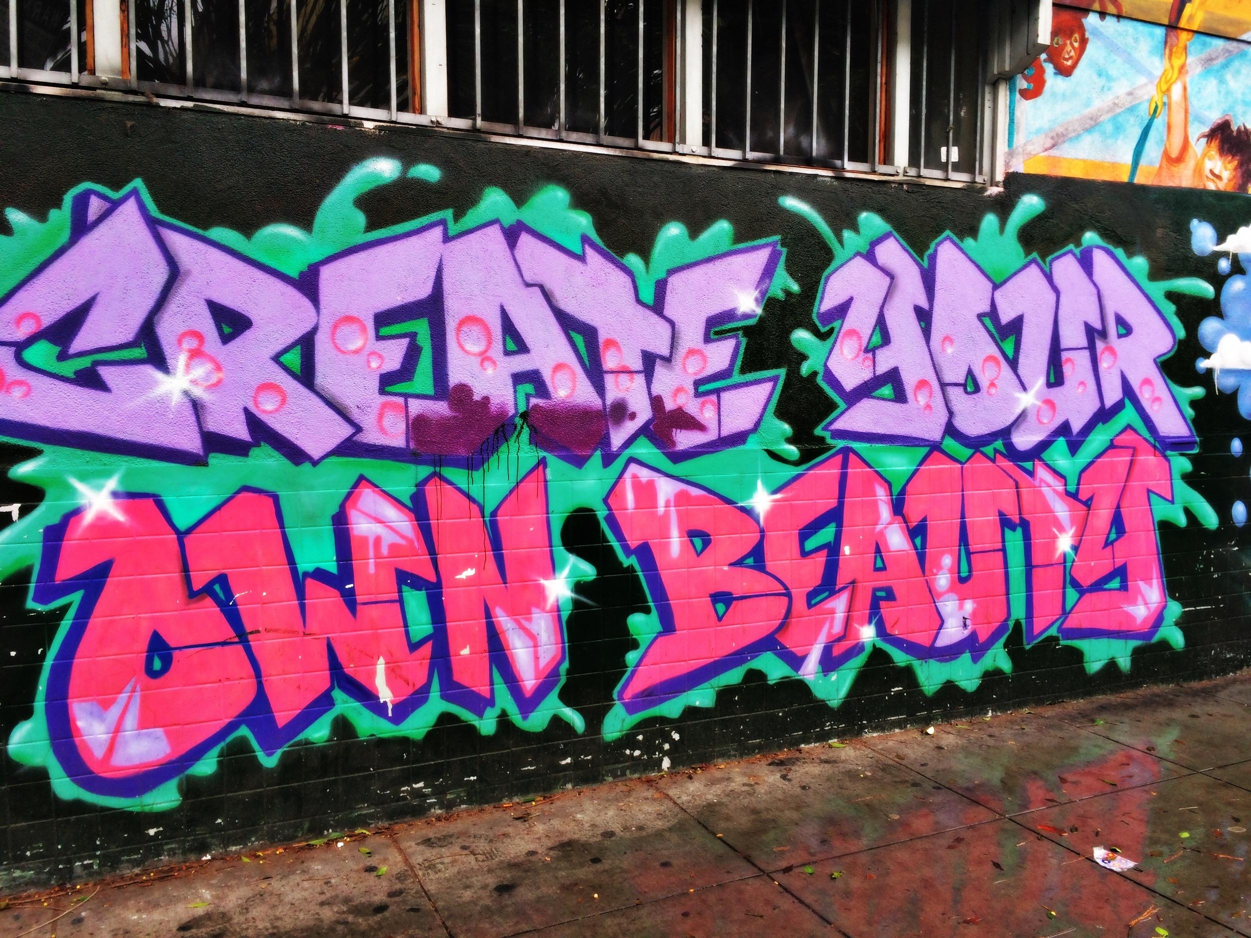 create your own beauty street art