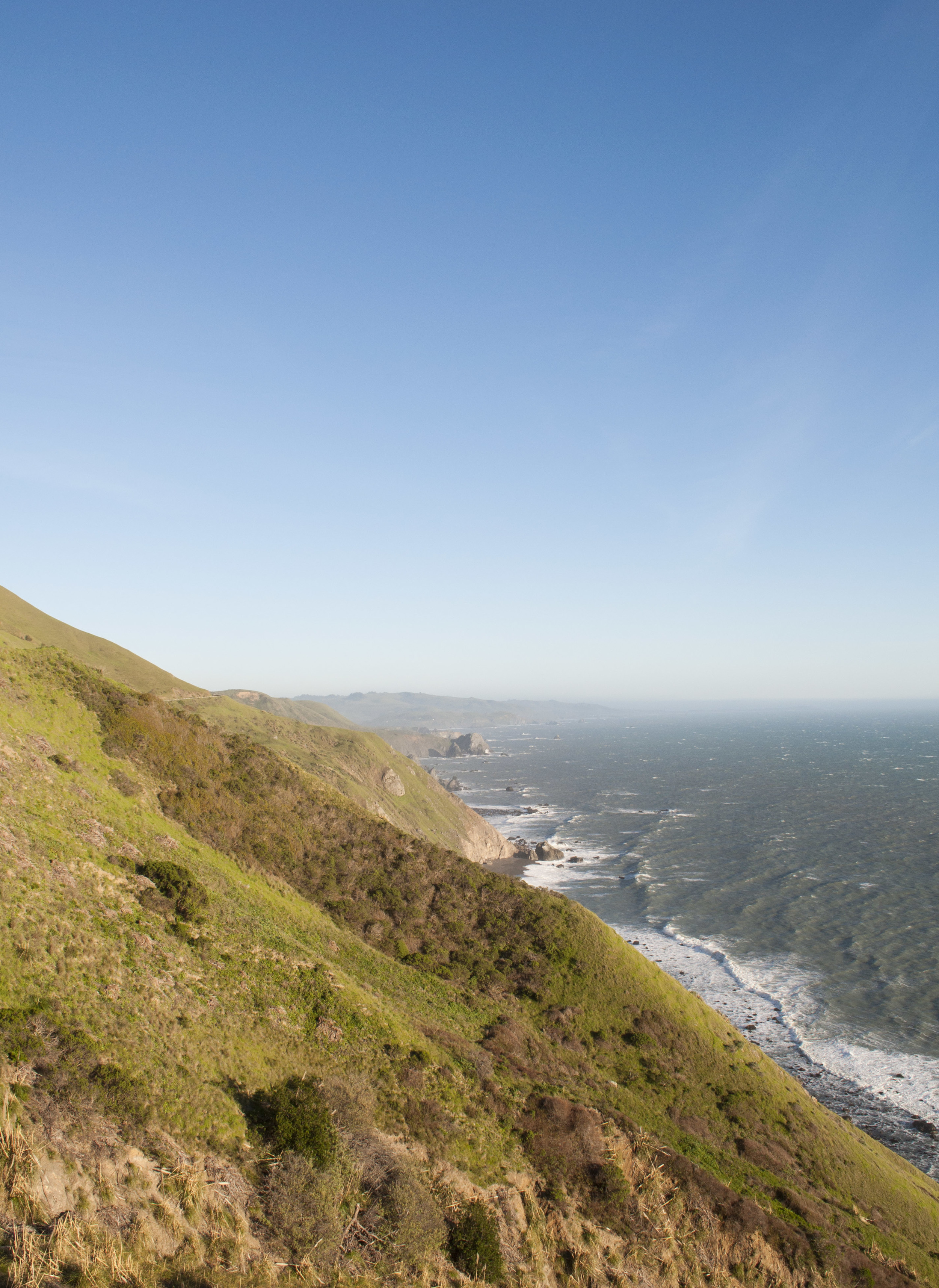 golden california coastline