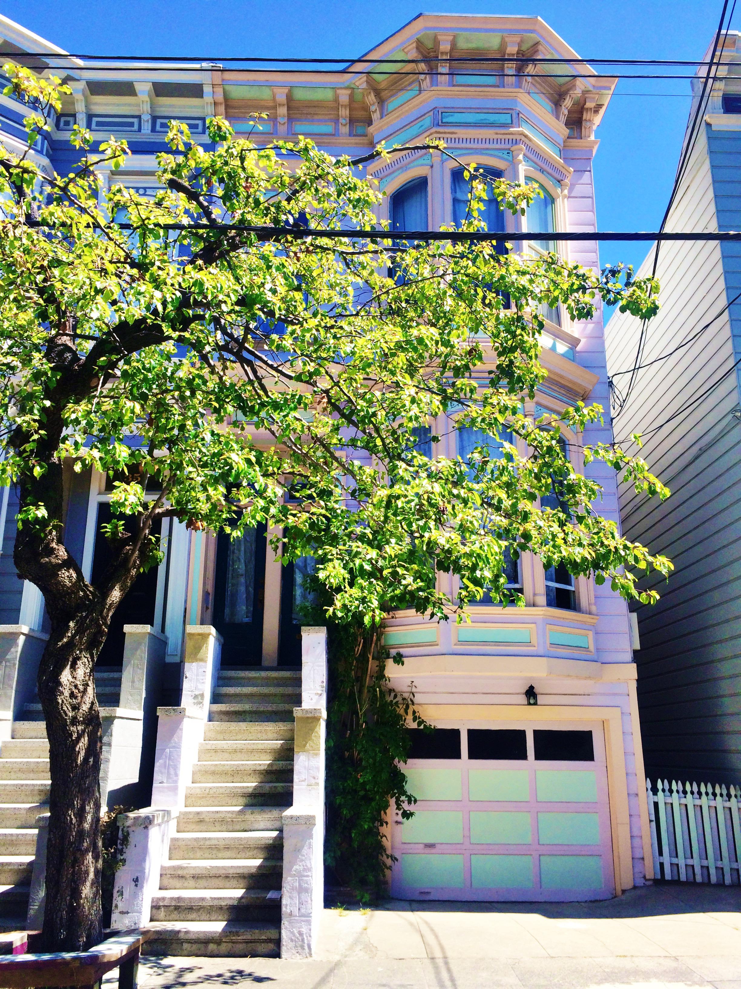 Pink Victorian House San Francisco