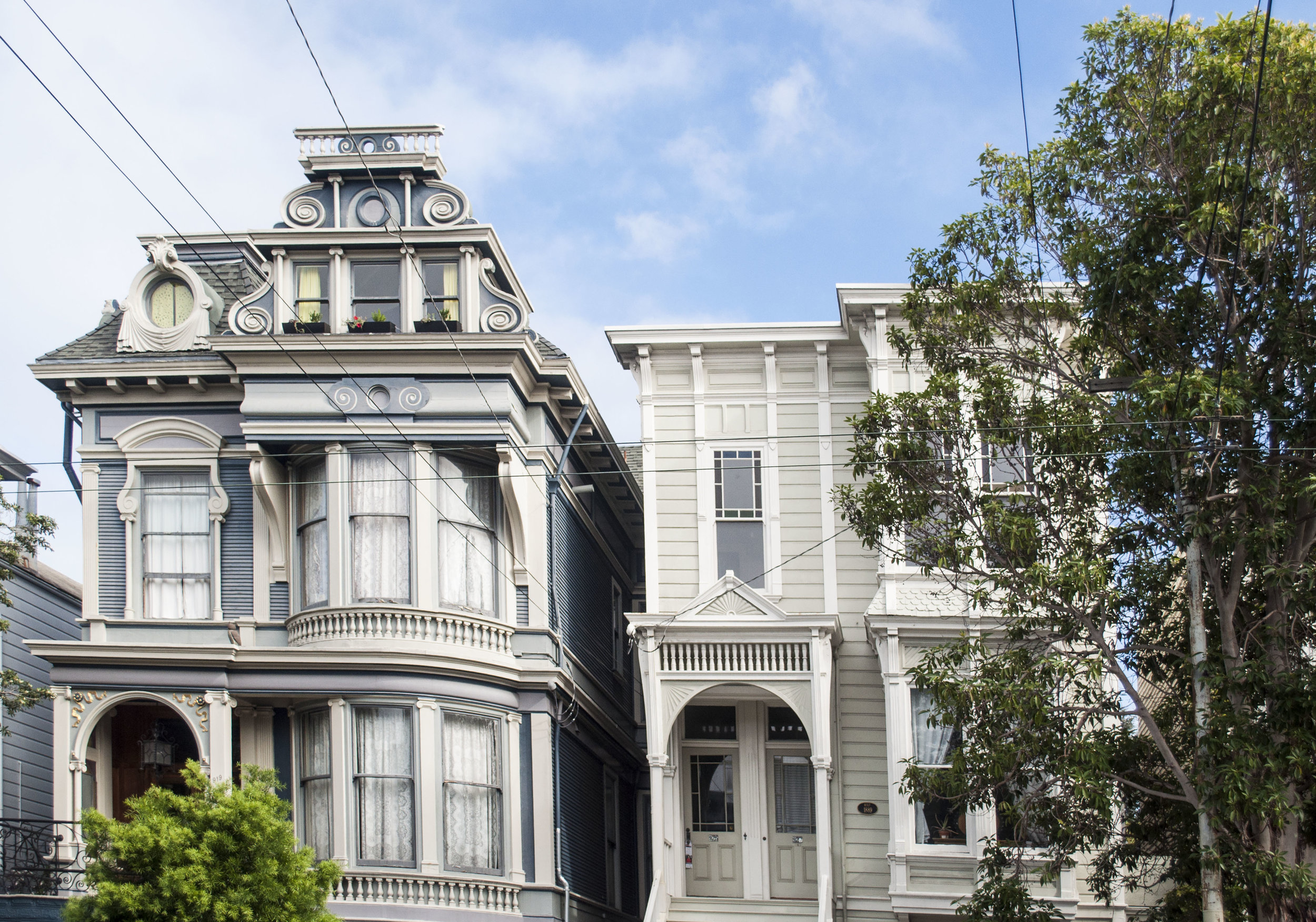ornate houses in san francisco mission hipsters