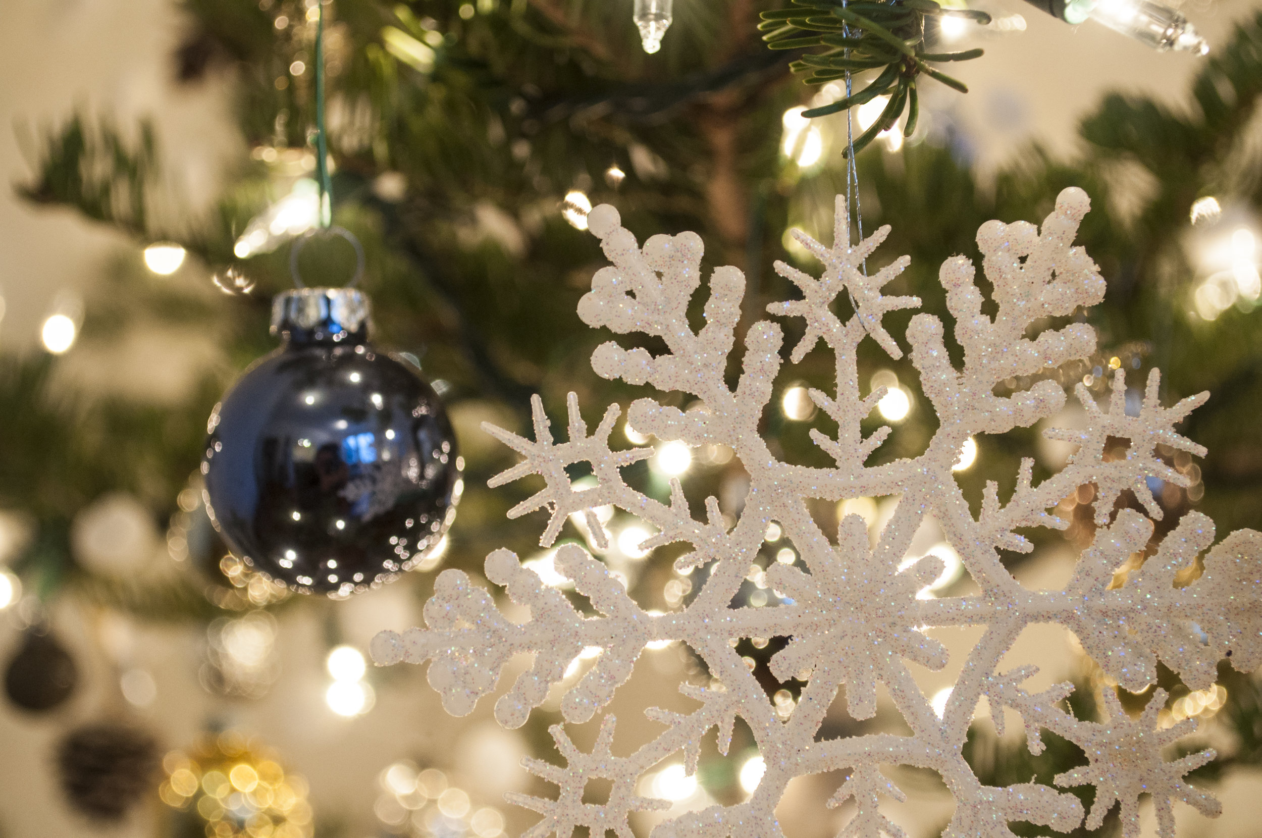 winter tree modern christmas
