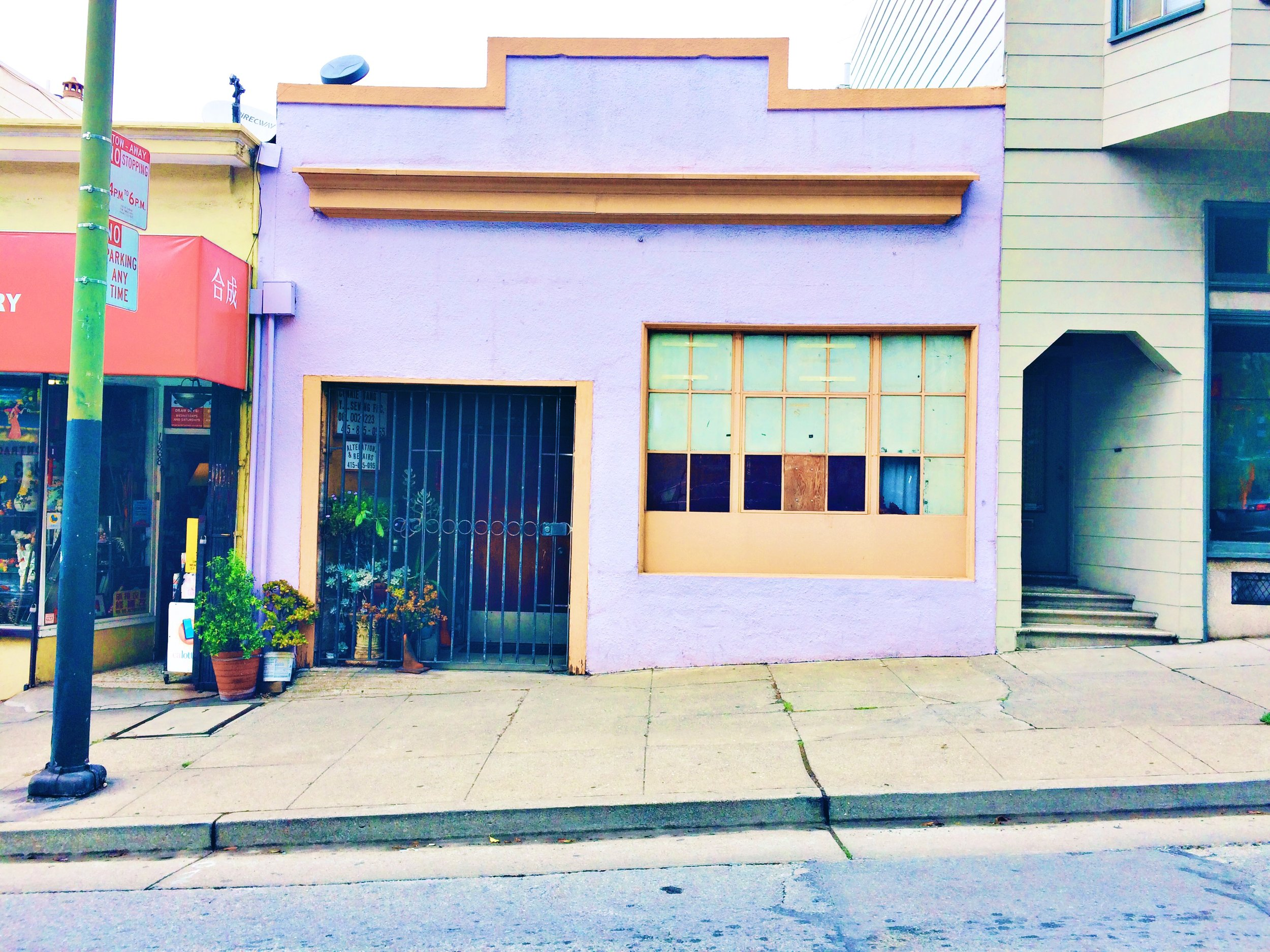 little purple house in the city san francisco