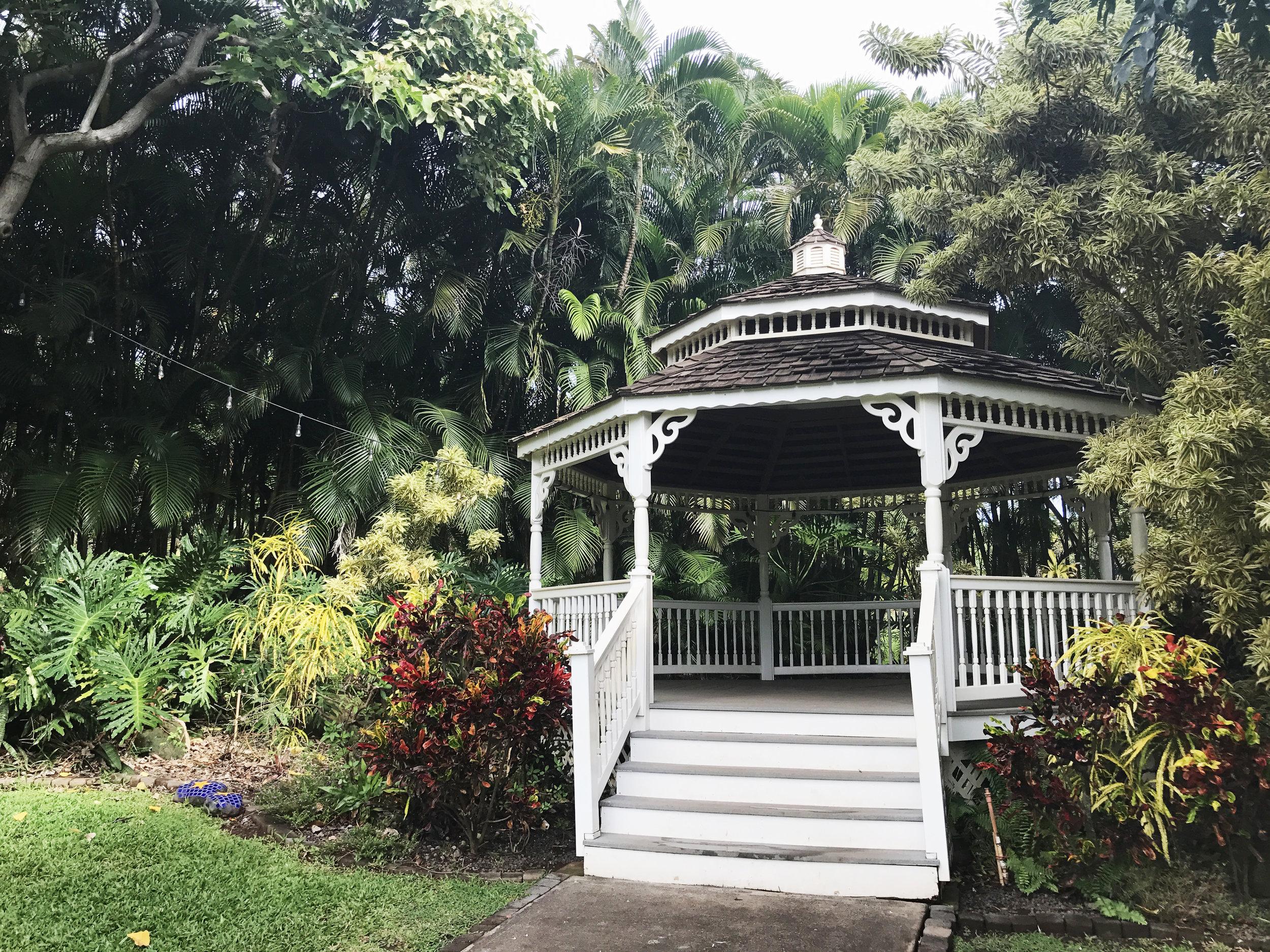 tropical gazebo dreamy vibes