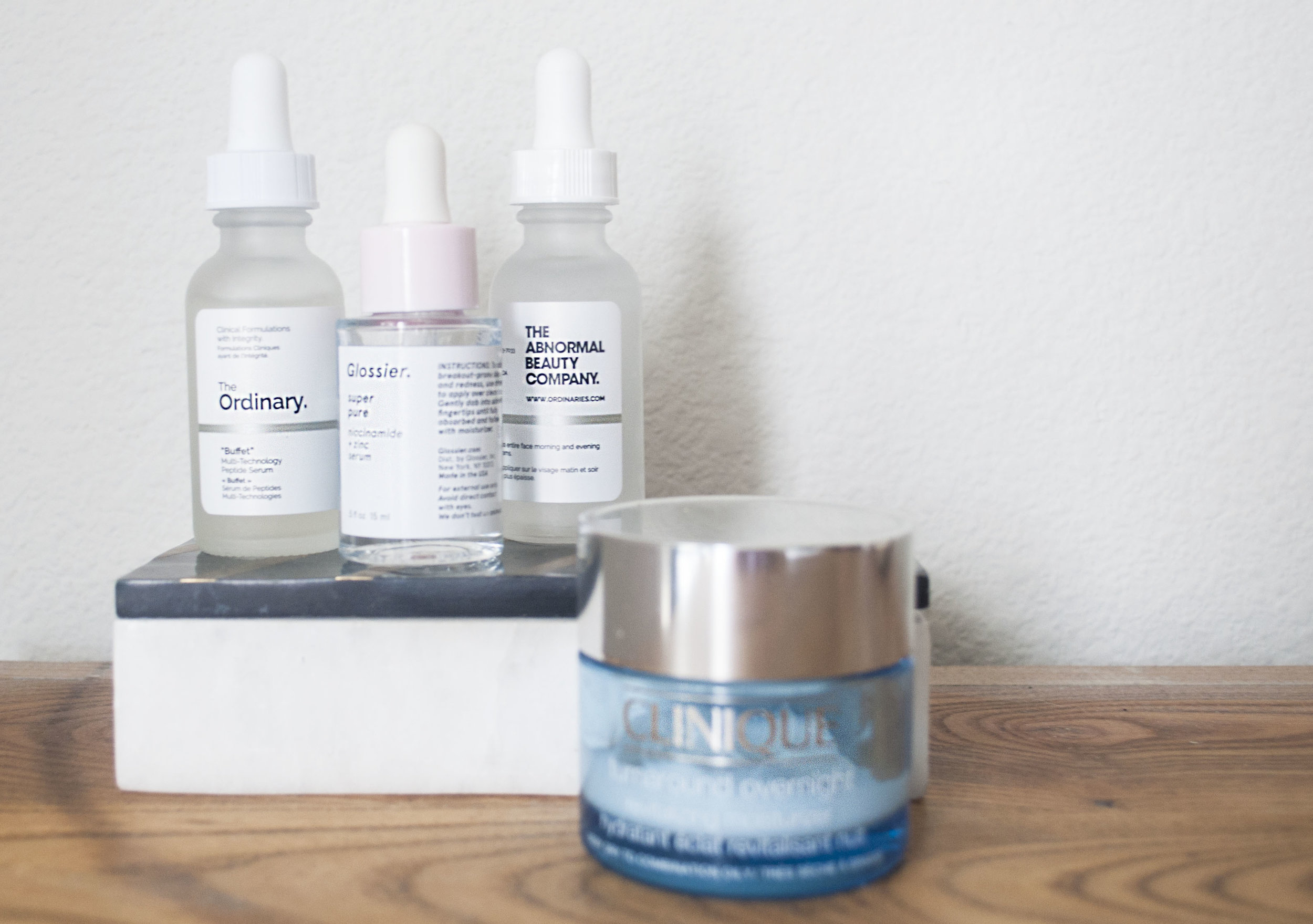 glossier clinique the ordinary buffet review