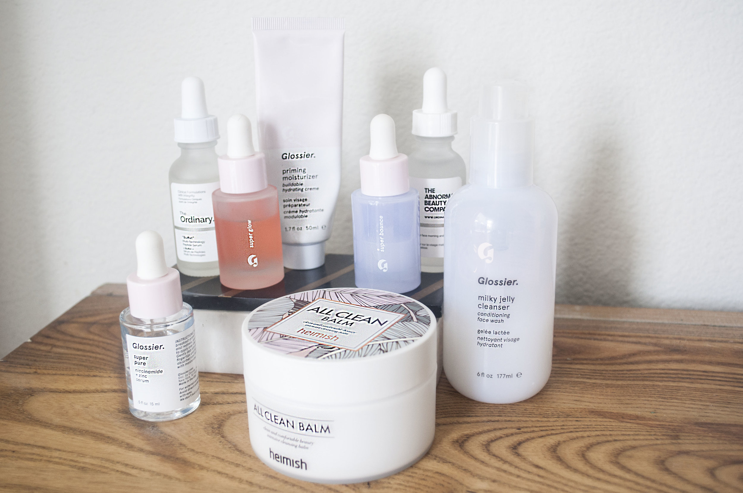 skincare review glossier and the ordinary