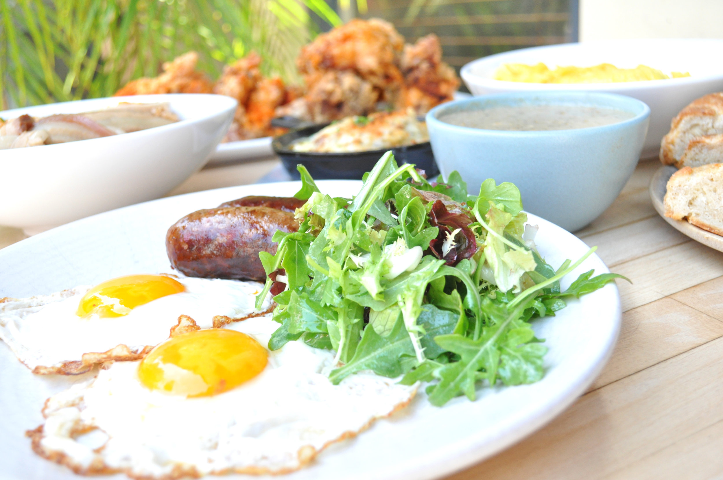 eggs and lamb sausage uptown oakland brunch