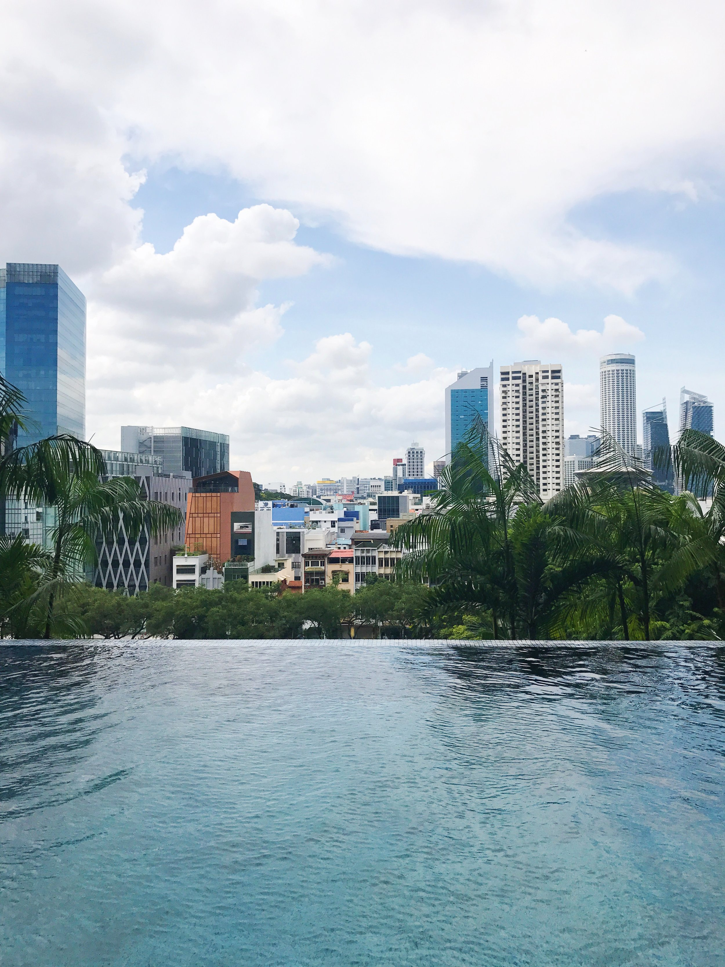 parkroyal on pickering infinity pool view singapore