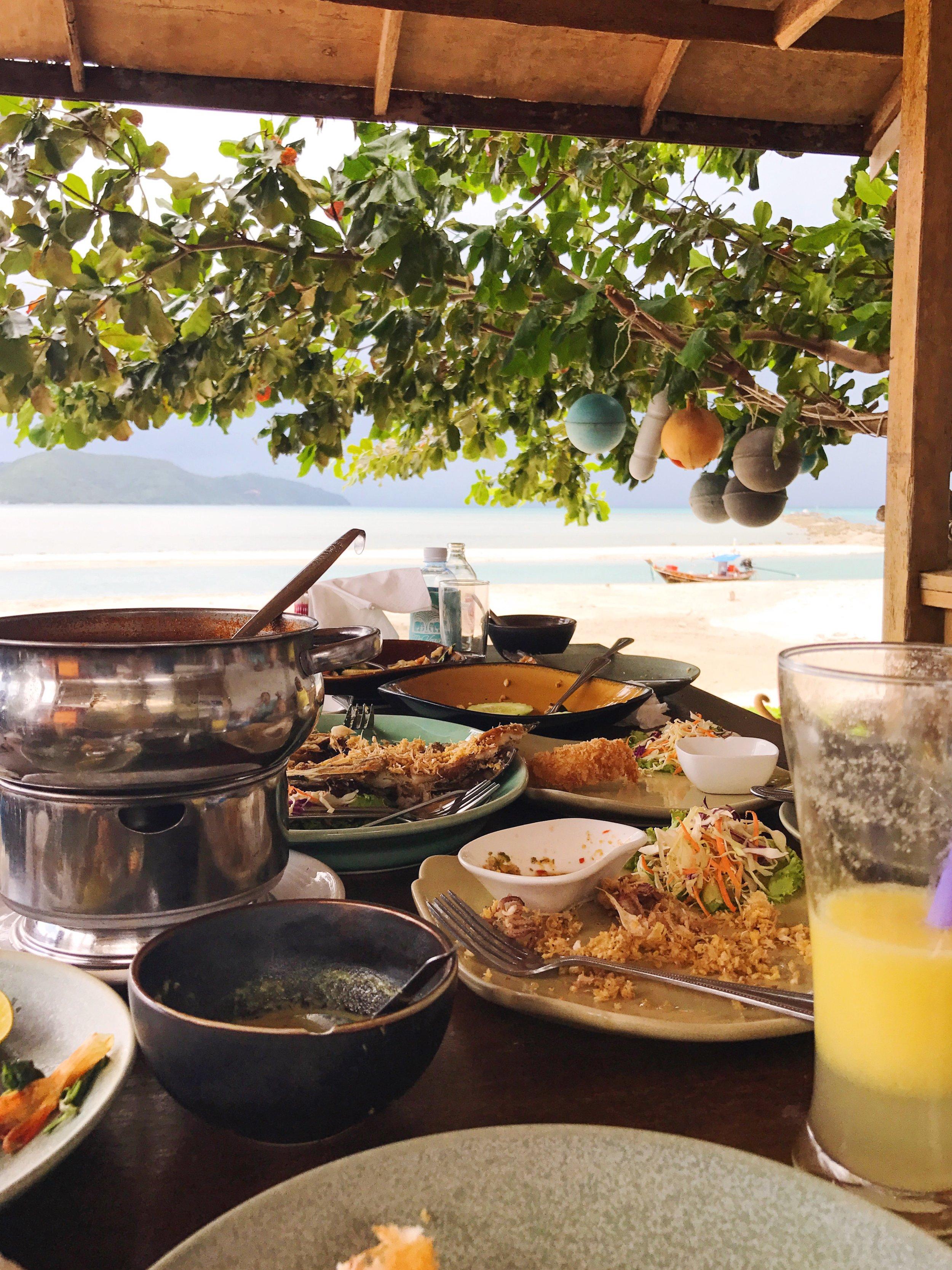 lunch on koh samui thailand