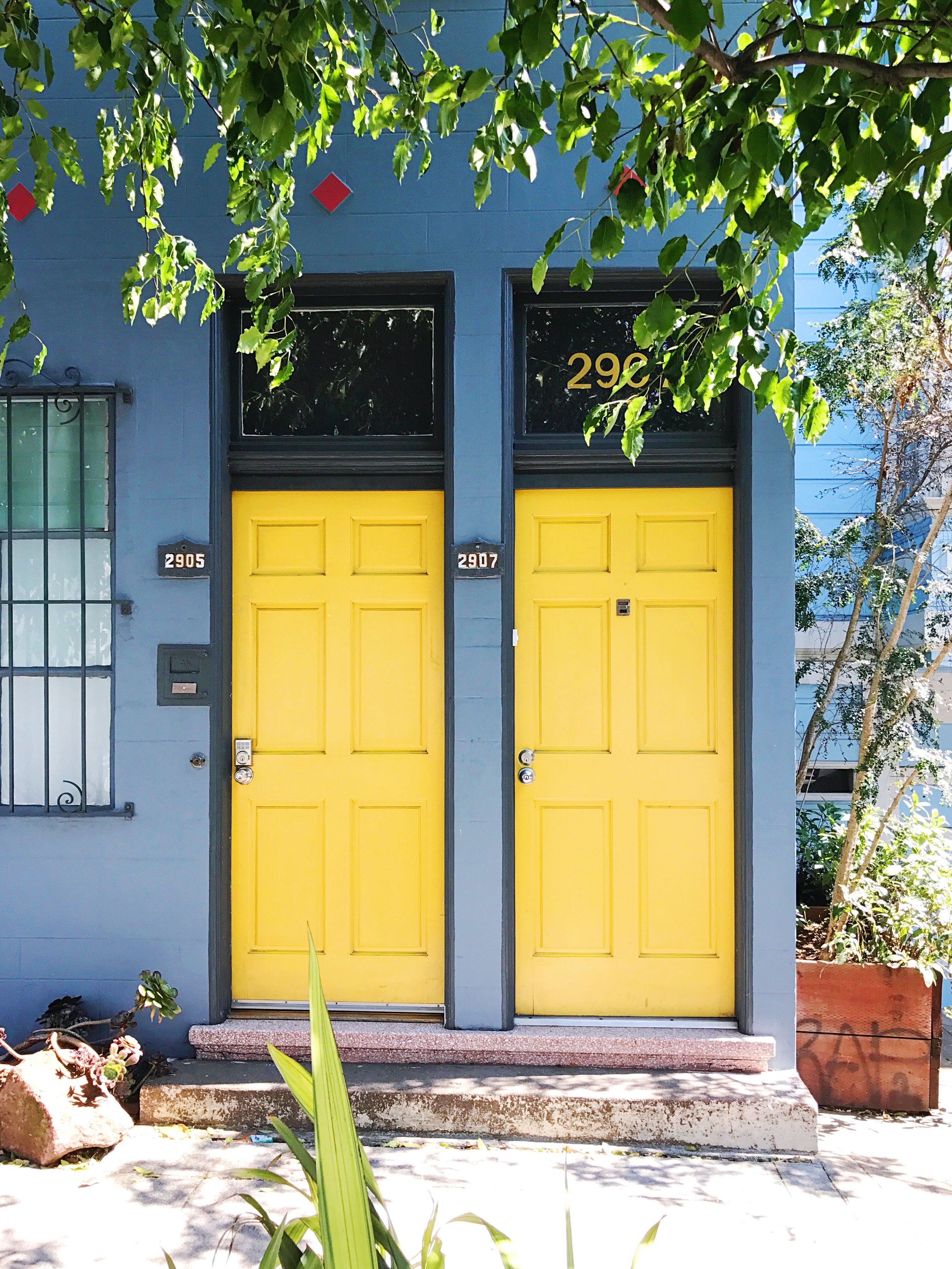 bright yellow doors san francisco places to see