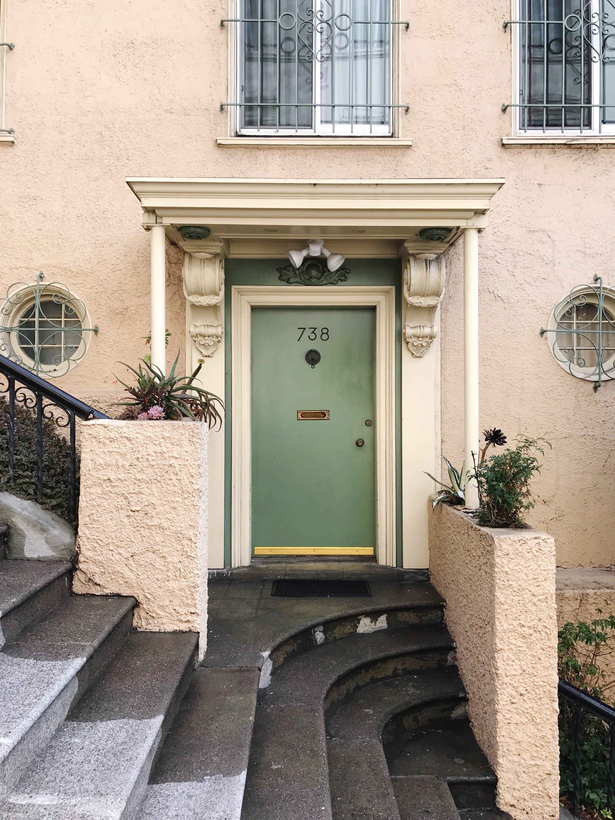 pink house green door san francisco house goals
