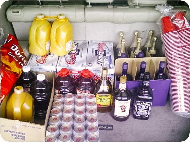 Supplies for my friend's 21st birthday, 2009*