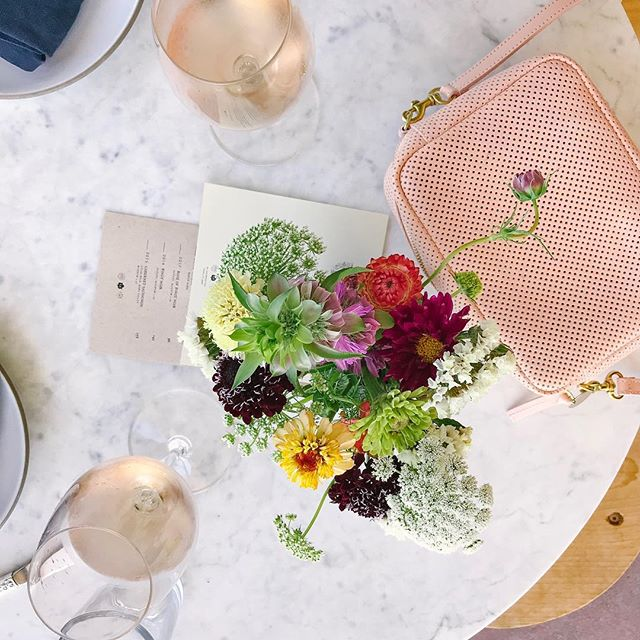 Rosé all day 🌸 #californiaweekend #winecountry #clarev #explore #flatlay #roseallday