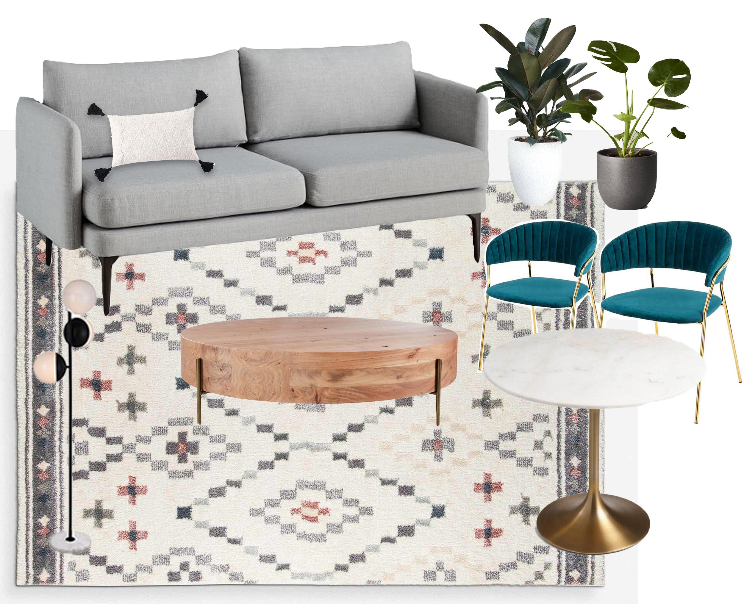 cozy den mood board modern boho apartment style