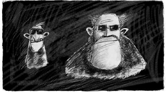 Tretia poviedka trilógie Smrteľné historky- Veľký chlap (grafický návrh)