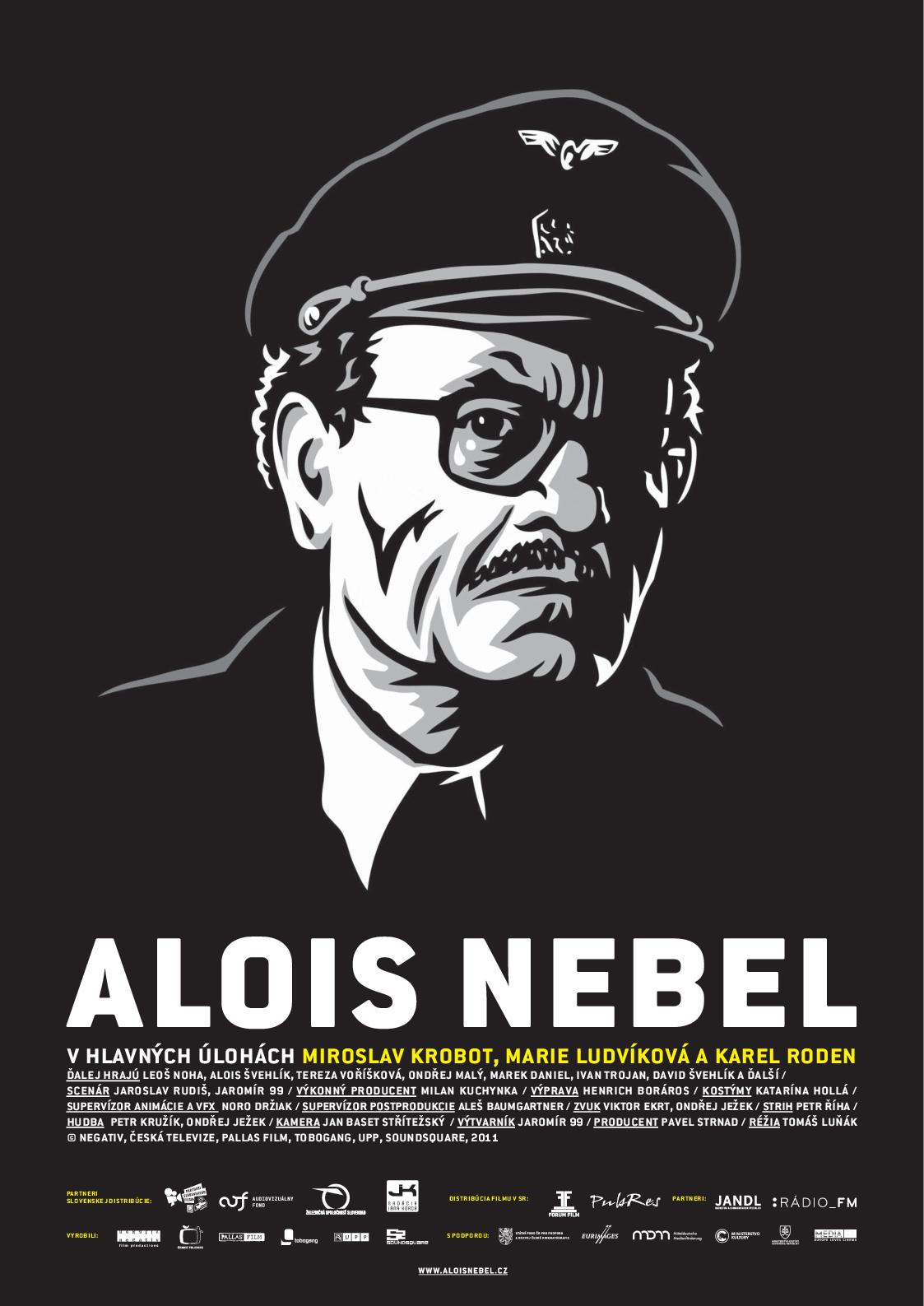 Slovenský plagát k filmu Alois Nebel:   S Miroslavom Krobotom v hlavnej úlohe.
