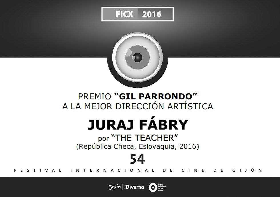 """The """"Gil Parrondo"""" Award for the Best Art Direction  to Mr. Juraj Fábry"""
