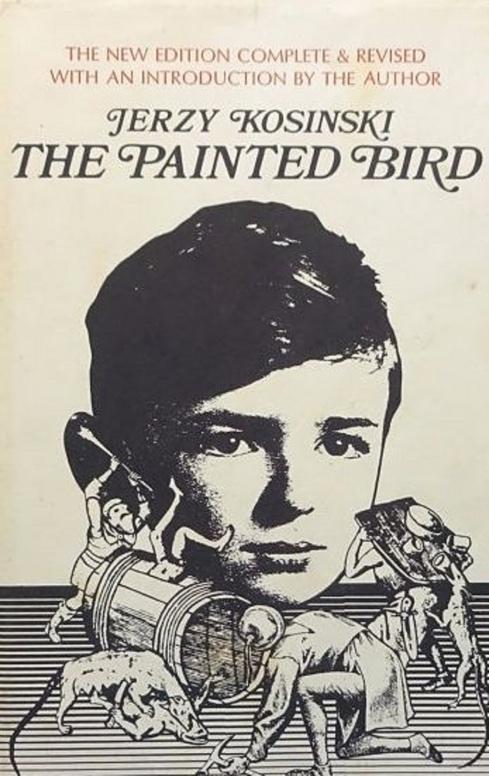 Obálka jedného z knižných vydaní románu  Pomaľované vtáča .