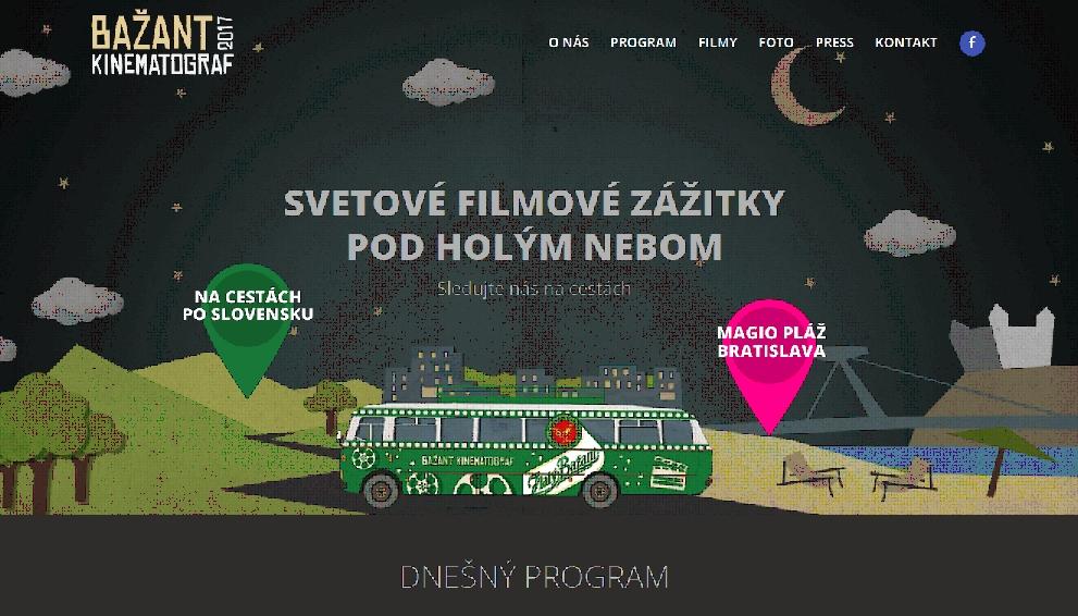 Informácie o filmoch, podrobný rozpis premietaní a program nájdete na webstránke projektu  www.kinematograf.sk .