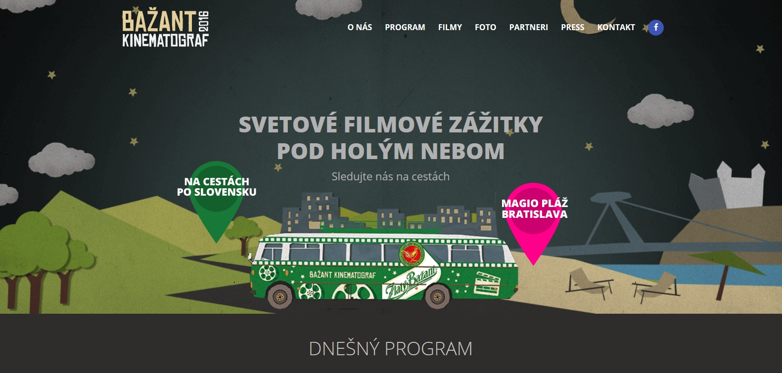 Informácie o filmoch, podrobný rozpis premietaní a program nájdete na vynovenej webstránke  www.kinematograf.sk .