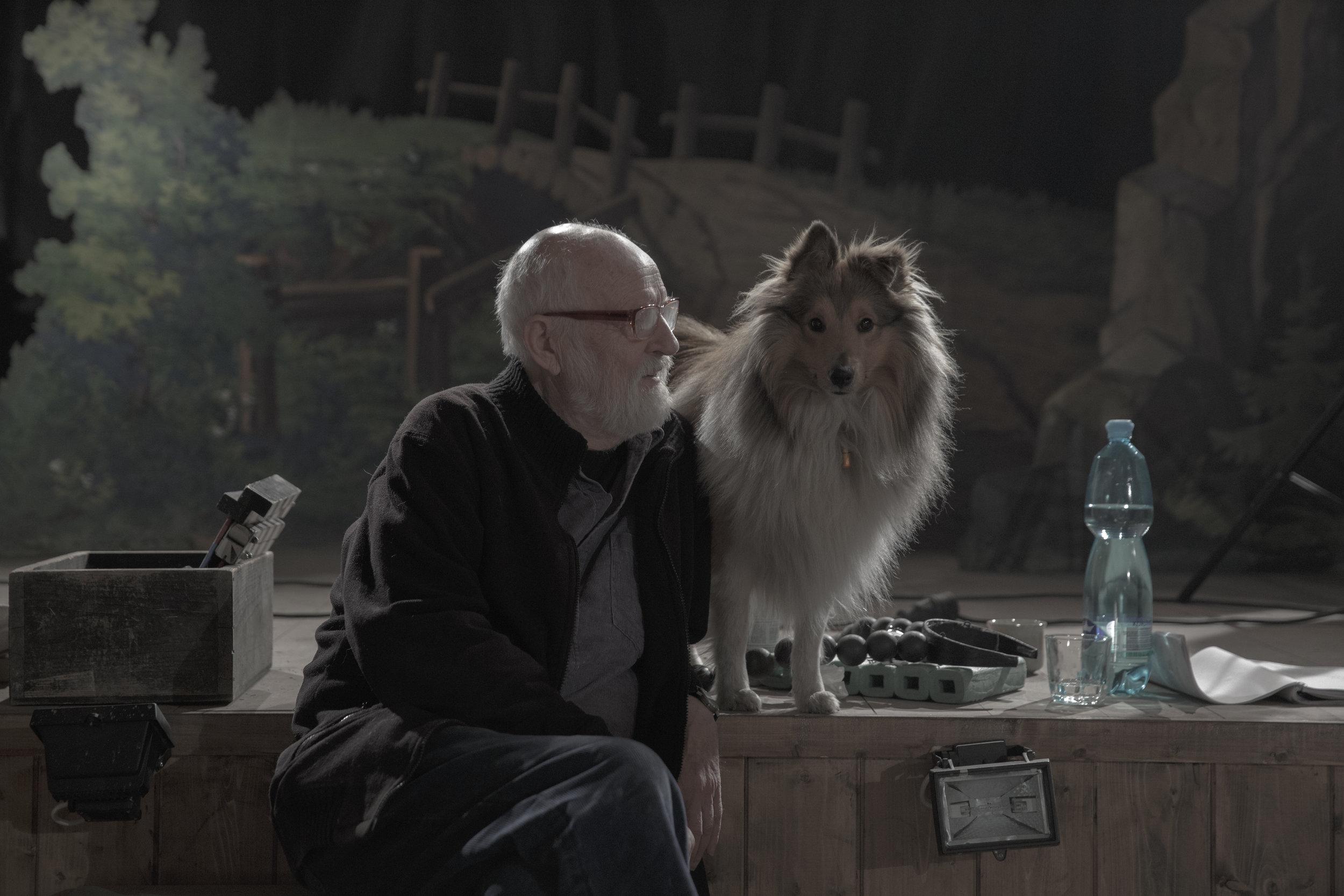 Režisér filmu Jan Švankmajer (foto z nakrúcania filmu Hmyz).