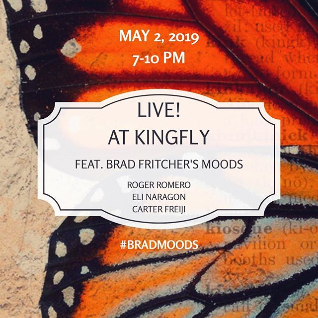 Save the date! We will be featured at @kingflyspirits May 2 as part of their running series on Thursday nights curated by Ben Opie. Tons of new material with @f3ralcat @carterfreiji and @naragonparagon 7-10 #bradmoods #pittsburgh #liveatkingfly