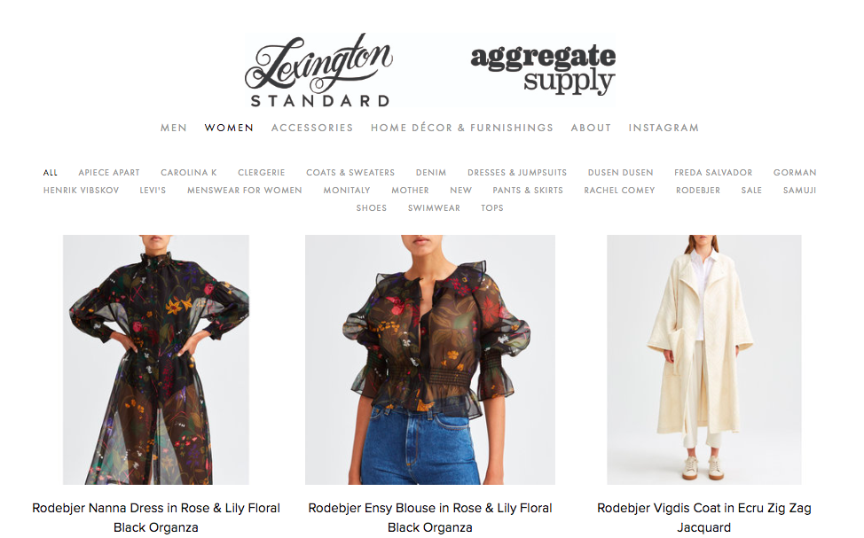 lexington standard - good for: beautifully curated selection of clothes, shoes, jewelry — staples and statement items3469 18th st, mission