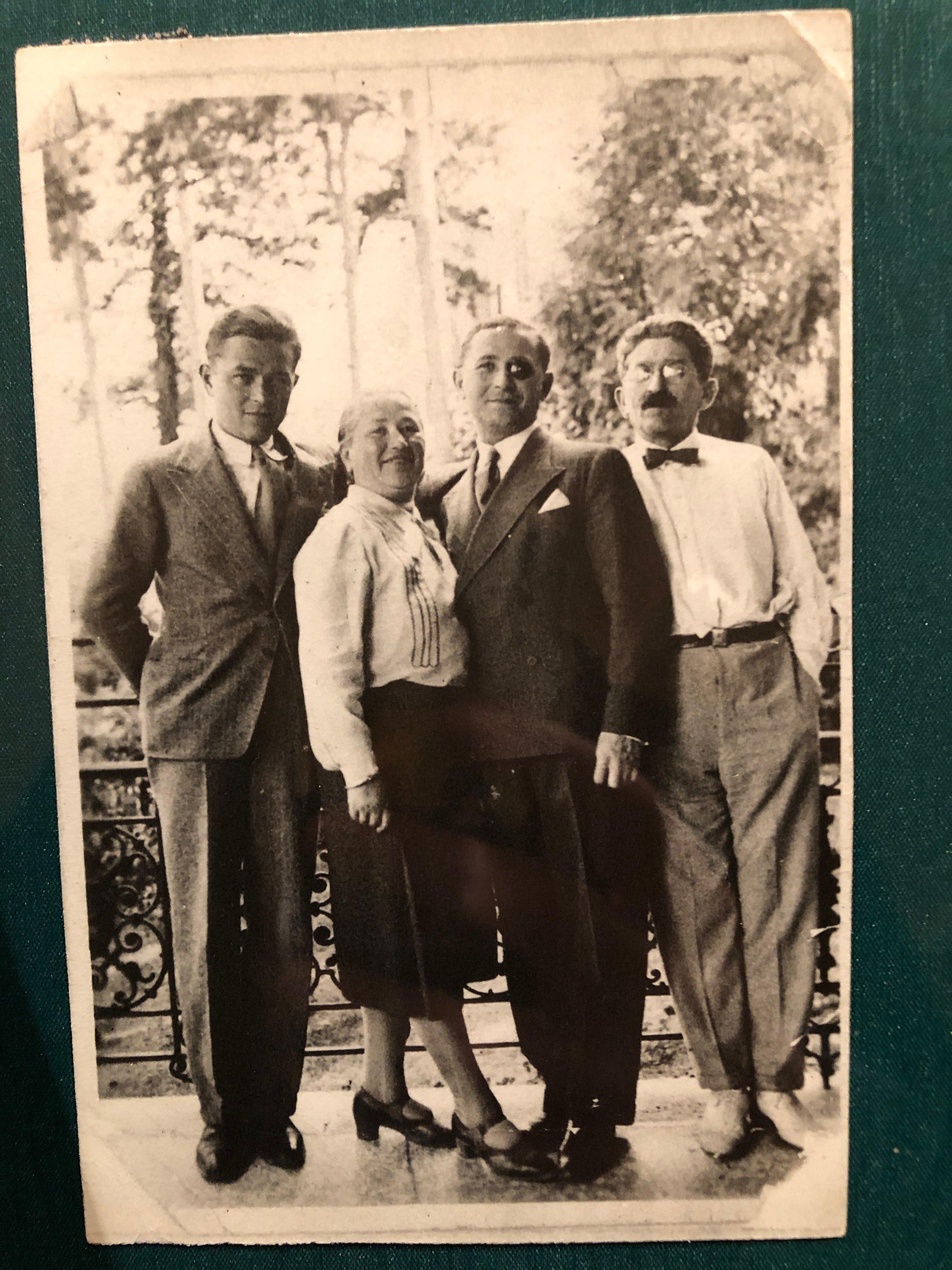 Leon, Tonia, Paul, and Albin Schmerbach, date unknown