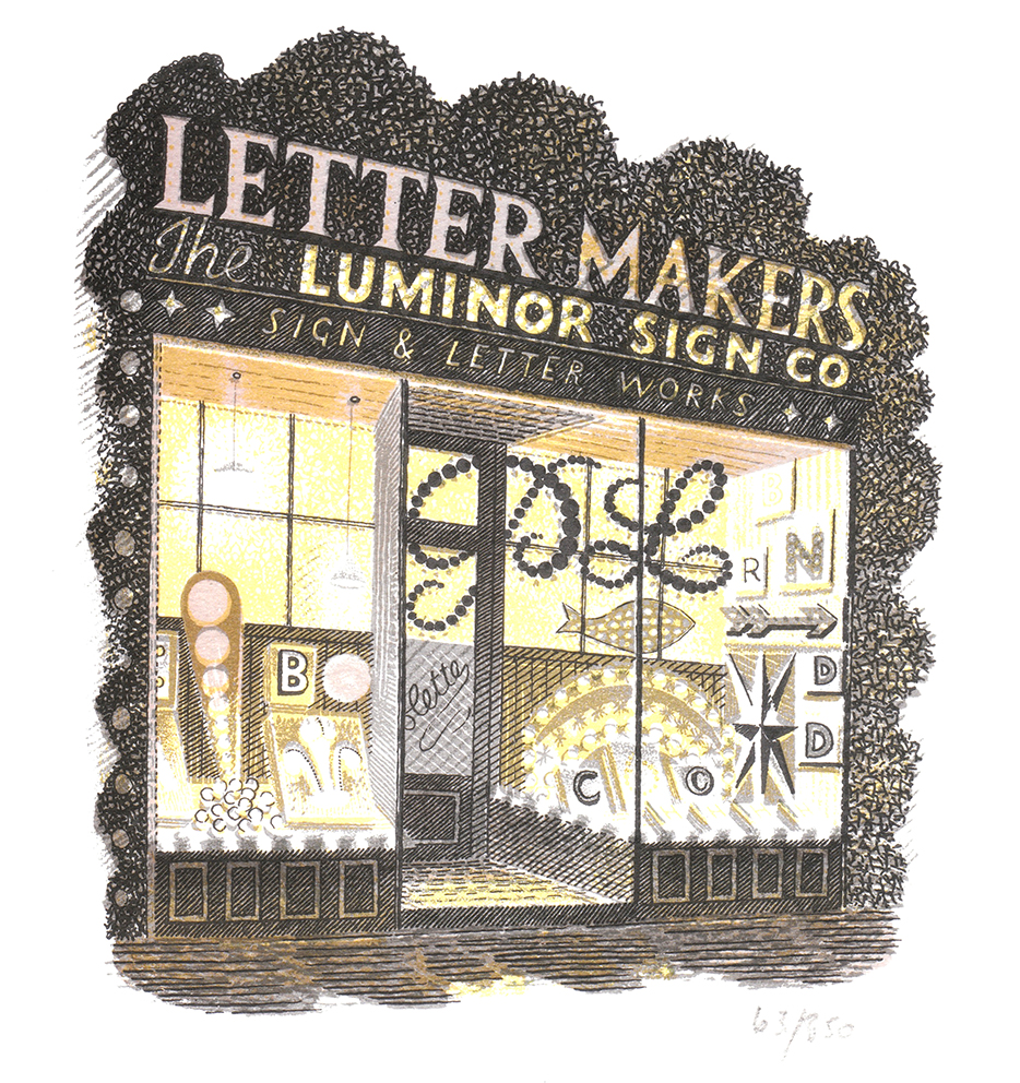 The Luminor Sign Co, Eric Ravilious, 1938