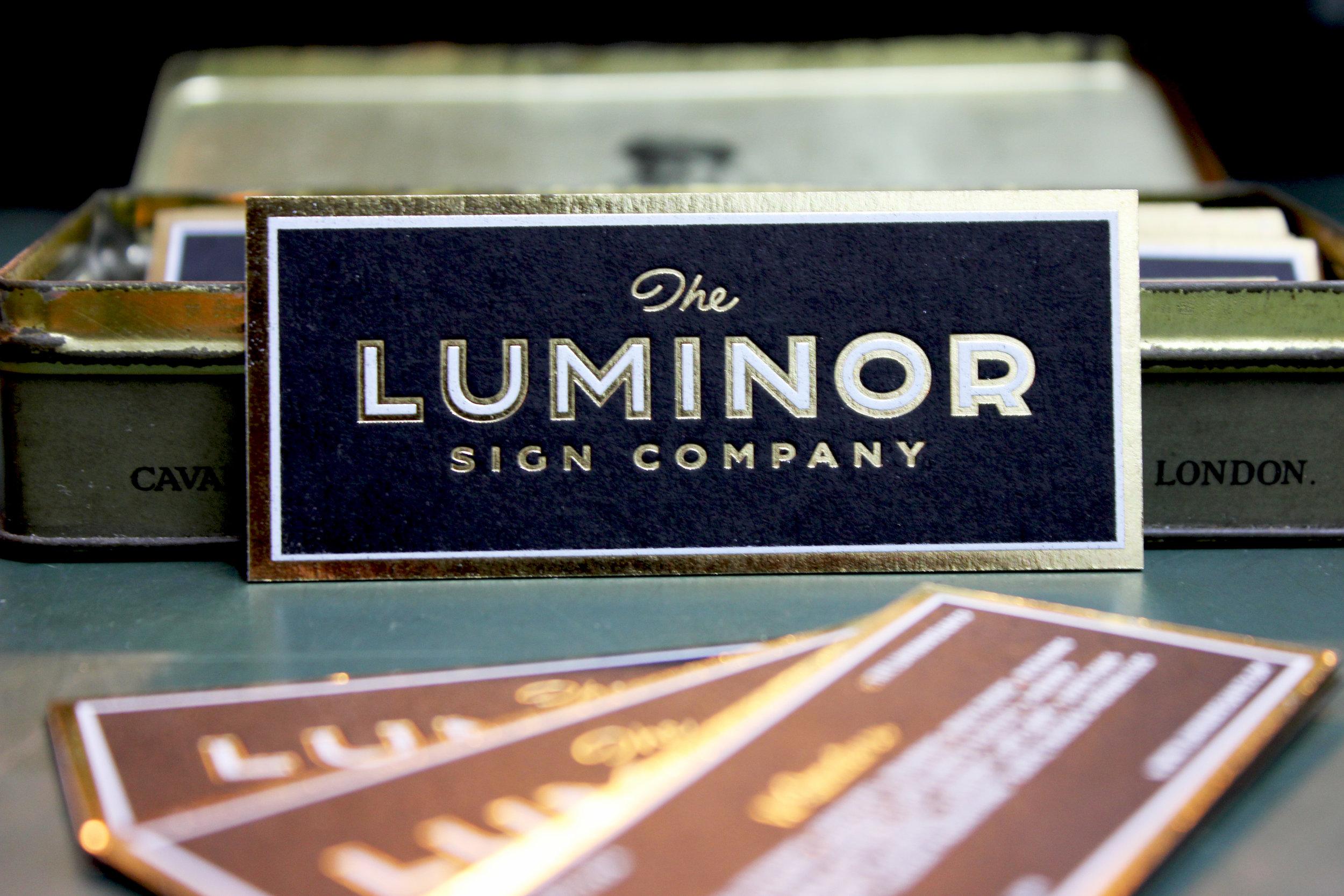 luminor sign co business cards ged palmer thomas mayo