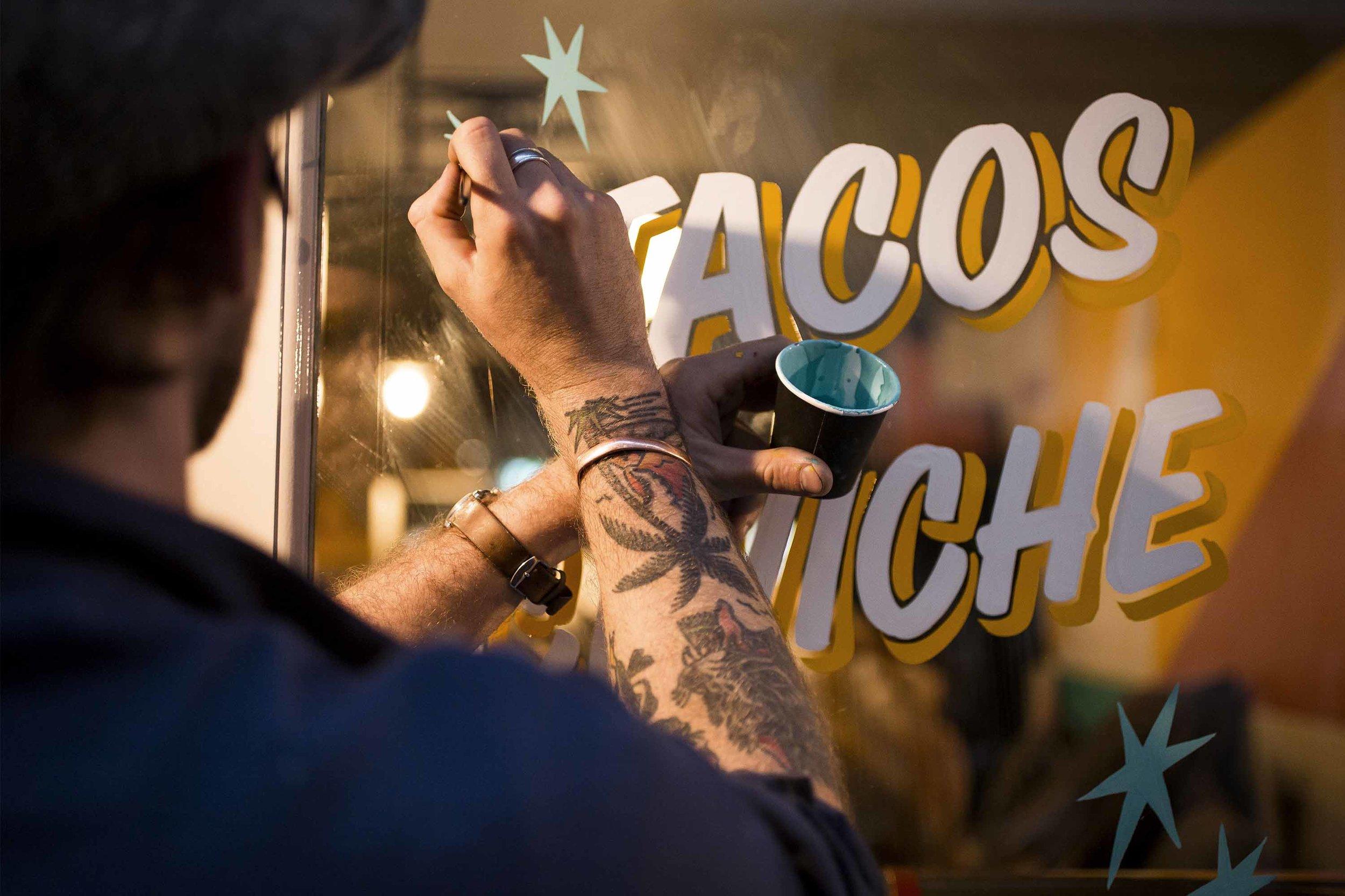 ged palmer sign painting casual breddos tacos