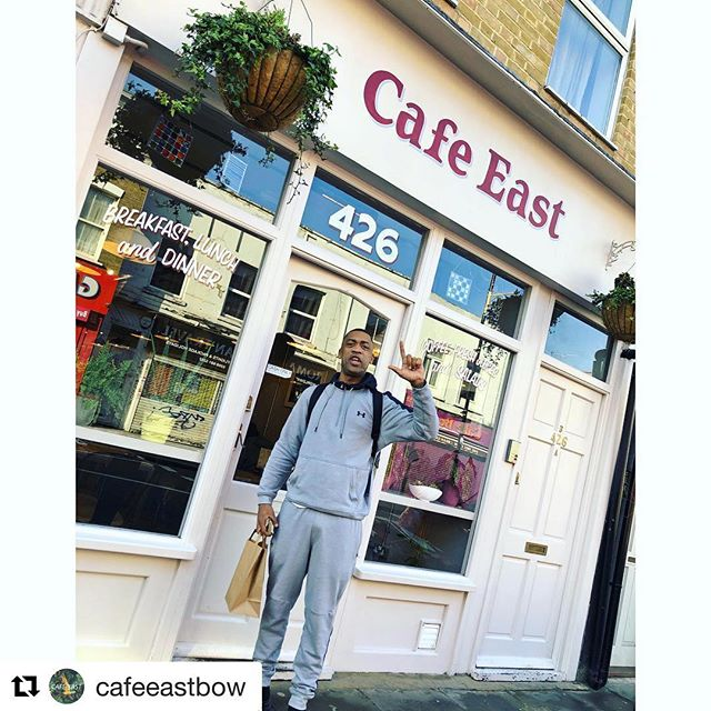 @wiley__  @cafeeastbow with @theluminorsignco #Repost @cafeeastbow with @get_repost ・・・ The Godfather. @wiley__ has finally turned up! BowE3 #eskiboy
