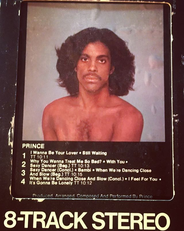 Nothing like a classic album in a (click) perfect format... #prince #8track #hisroyalbadness #paisleypark