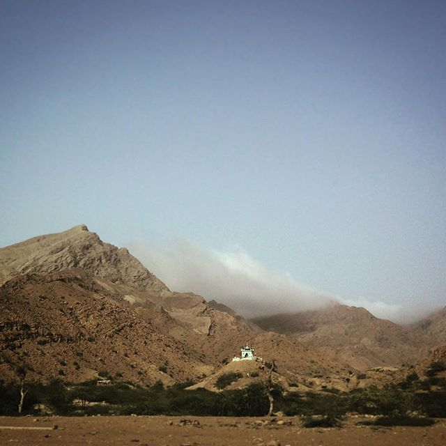 Sufi shrine nestled into Baluchistan hills.