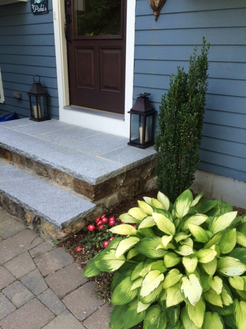 Fieldstone Steps with Granite Treads
