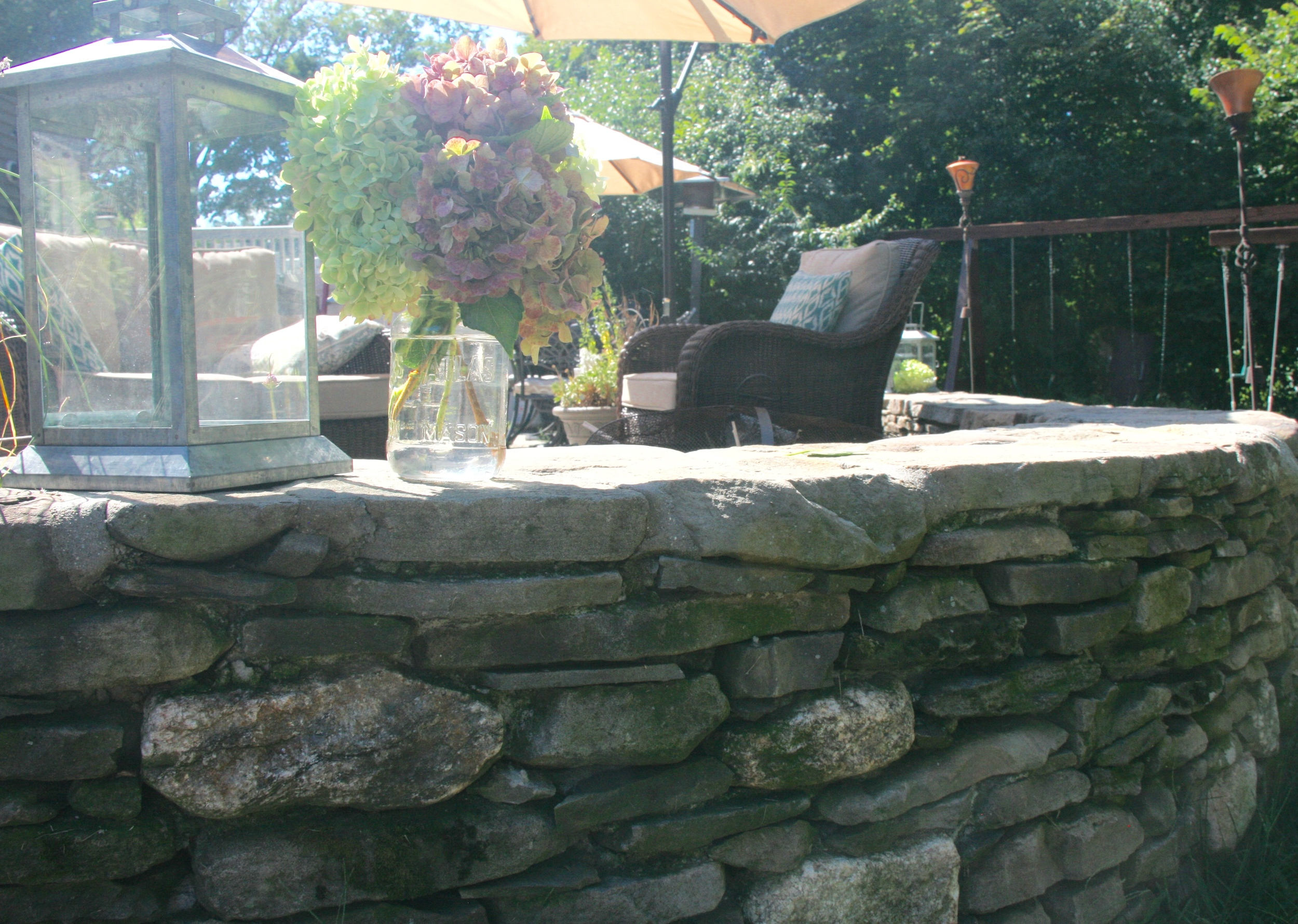 Fieldstone Sitting Wall
