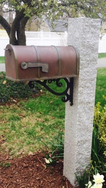 Granite Mailbox post