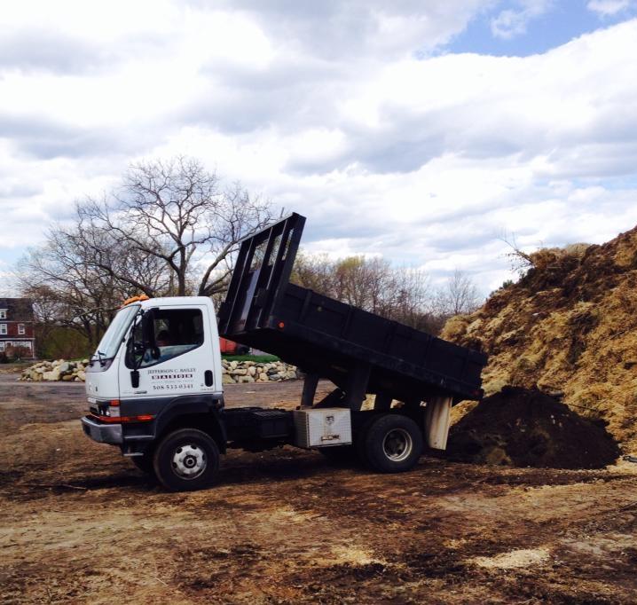 Dump truck at work