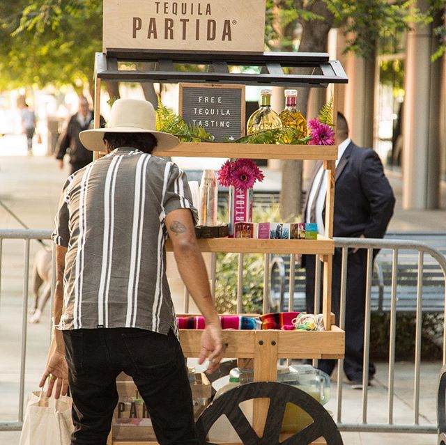 One our sponsors, Tequila Partida, was quite a hit at the End of Summer Bash event! . . . #savoiragency #savoir #tequila #partida #endofsummerbash #summer #event #dtlablockparty #eventplanner