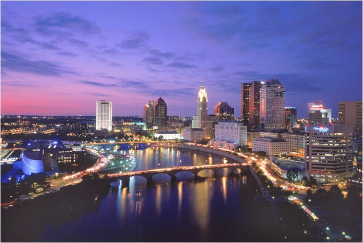 Beautiful downtown Columbus