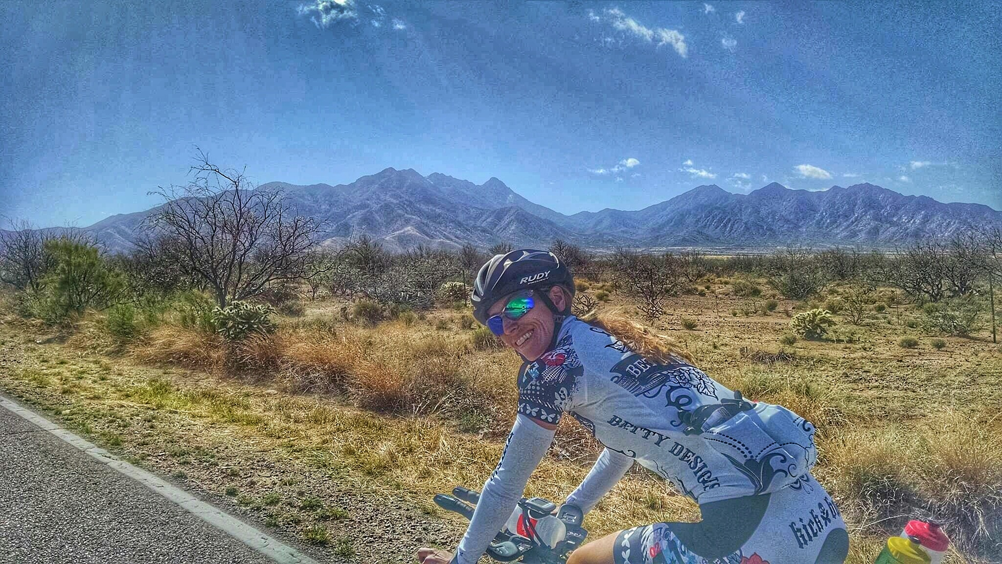 And then there are the trips where you are lucky enough to find yourself in Tucson on an 80 degree day in the middle of Winter. Definitely no need for trainer rides with this beautiful scenery surrounding us.