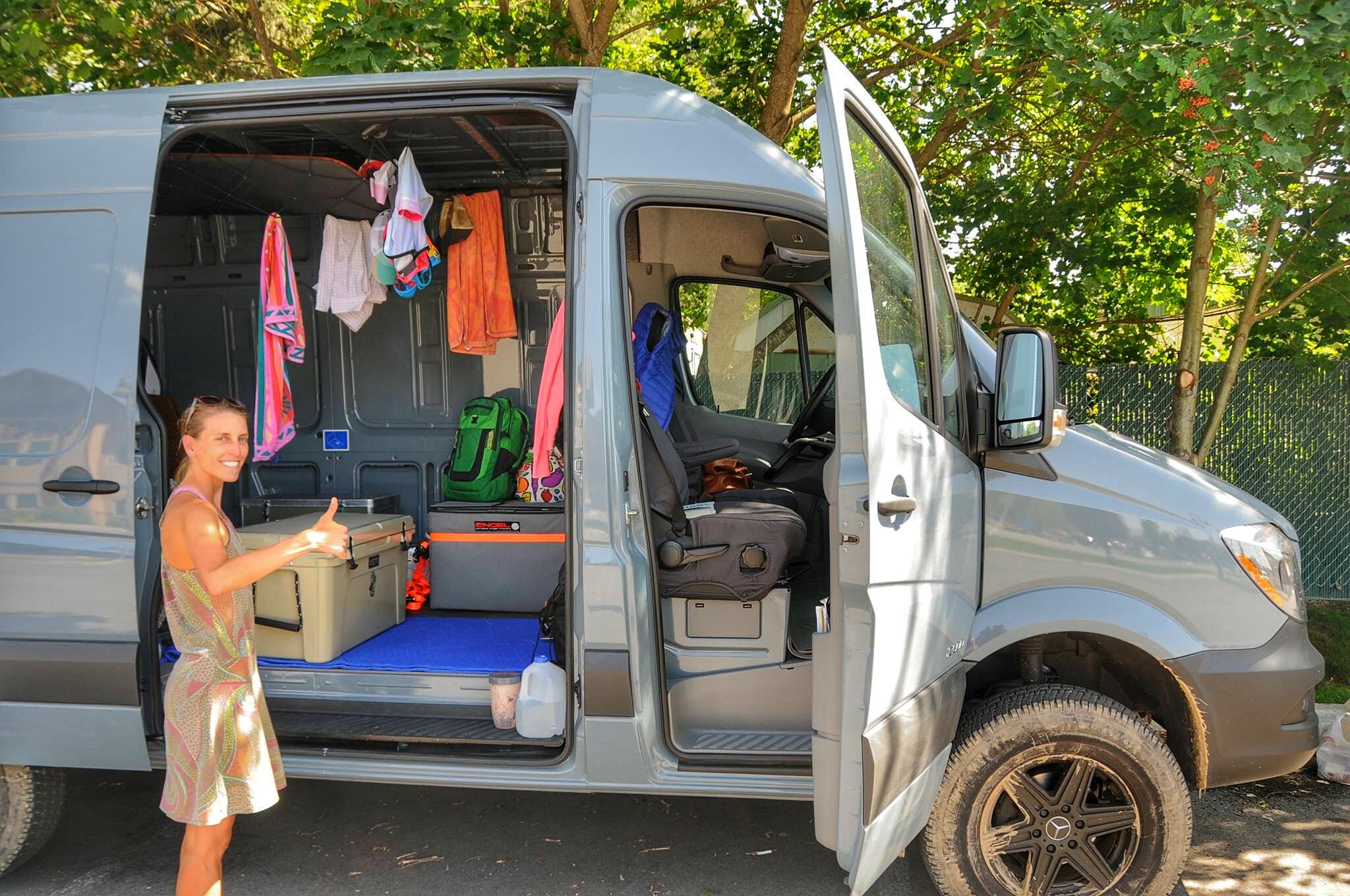 A clean van means a happy camper :)