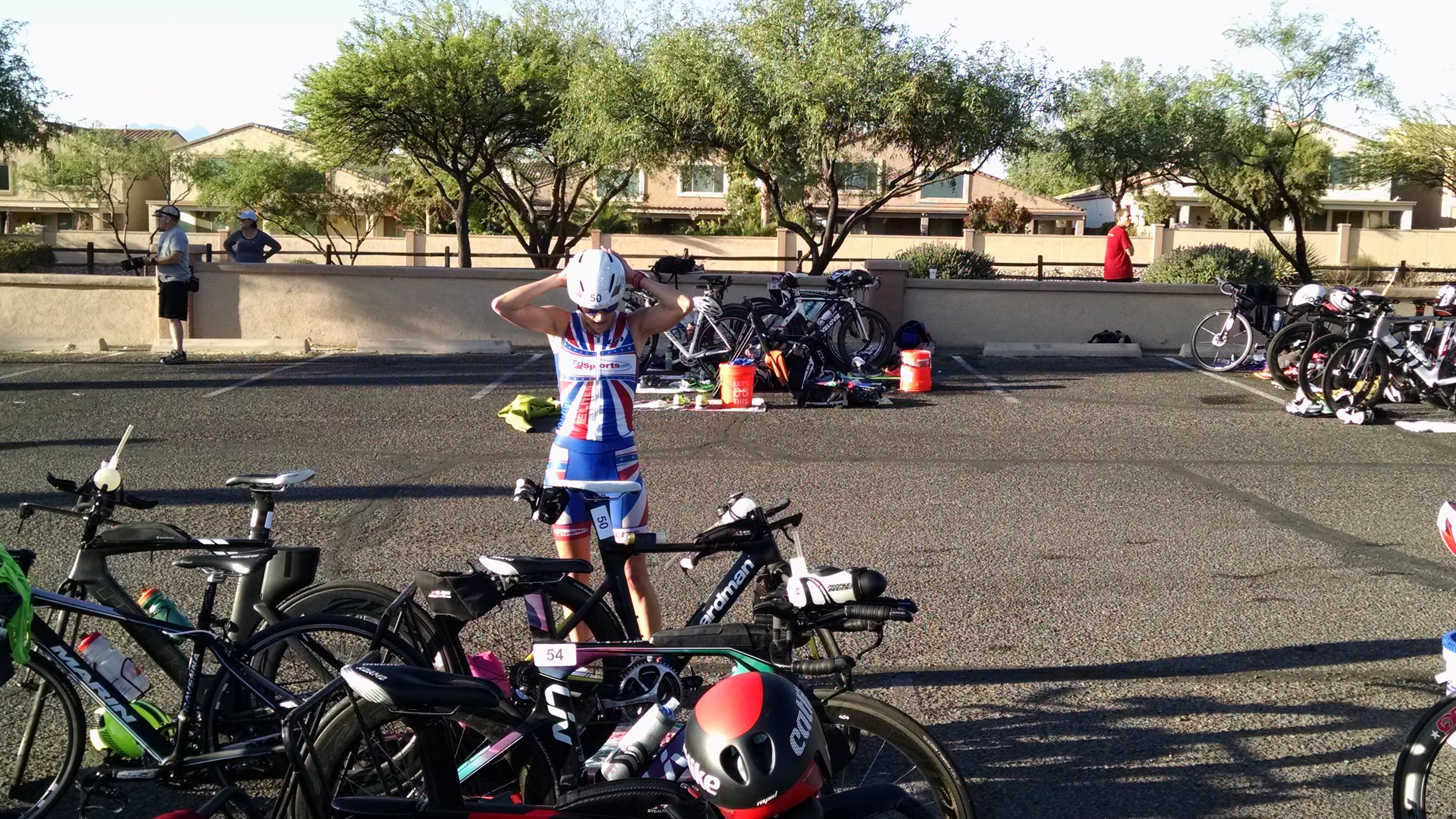 T1- transitioning from the swim to the bike